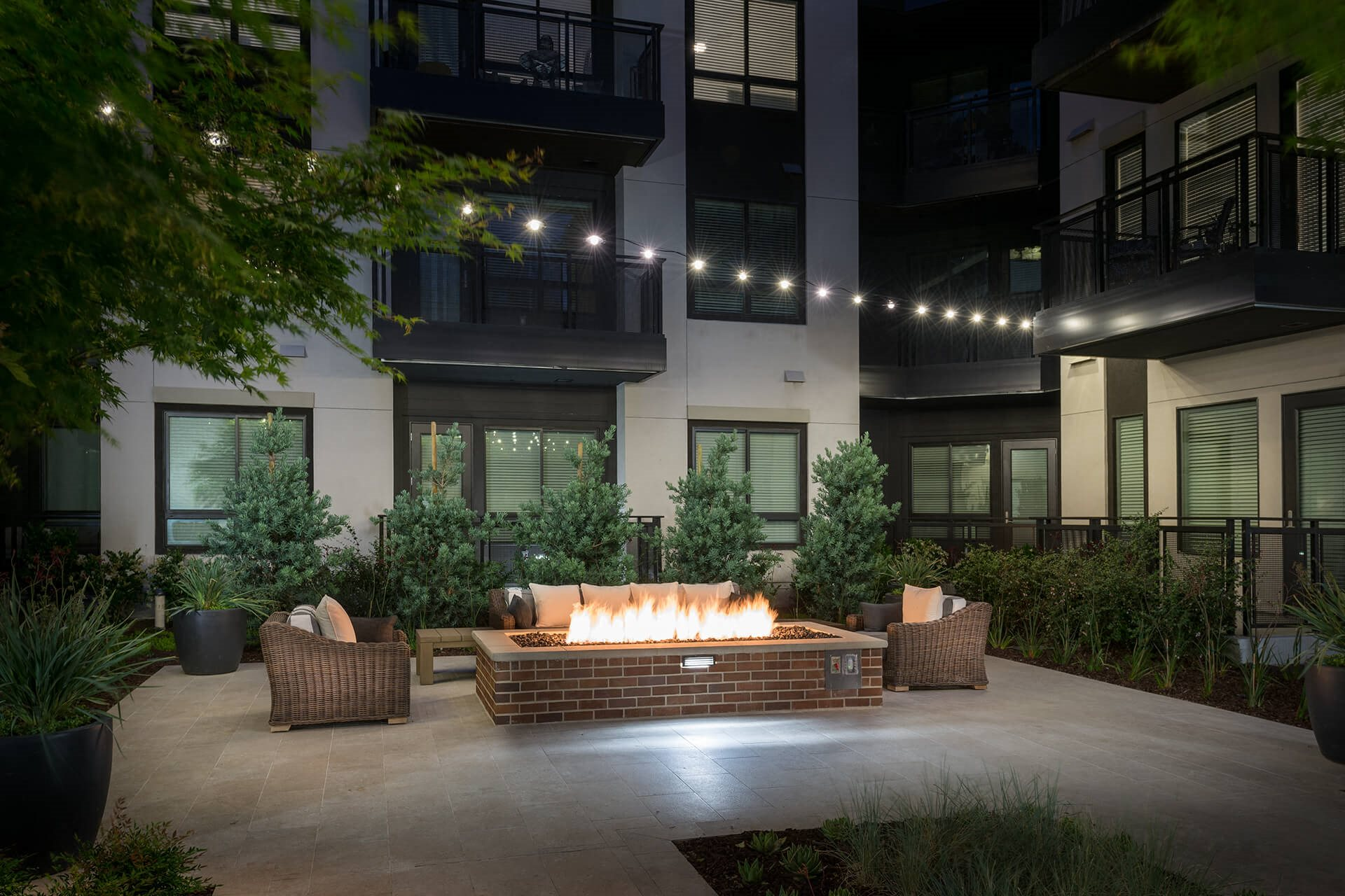 Outdoor fireplace at Cannery Park by Windsor, California, 95112