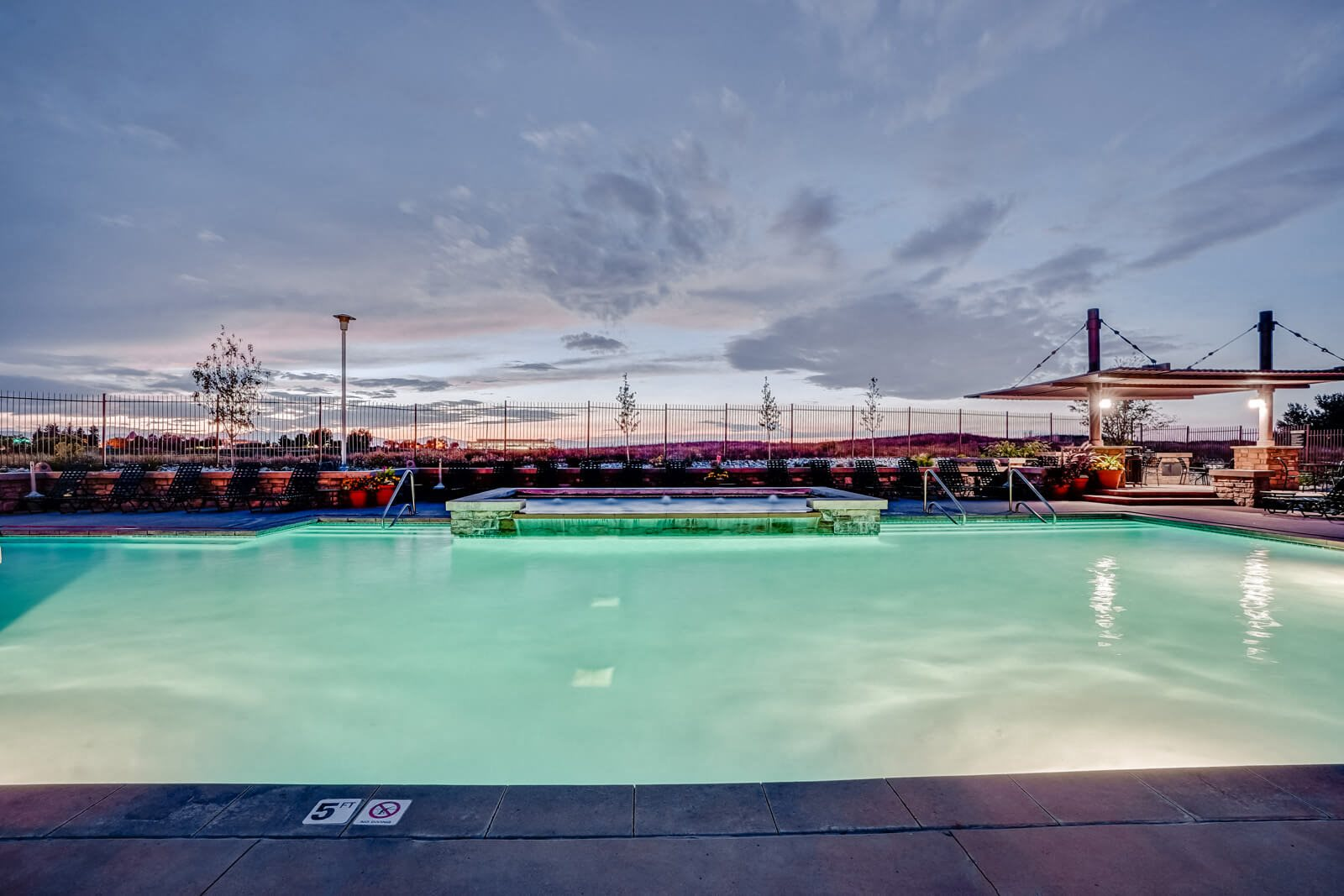 Views from the Pool Deck at Windsor at Meridian, 9875 Jefferson Parkway, Englewood