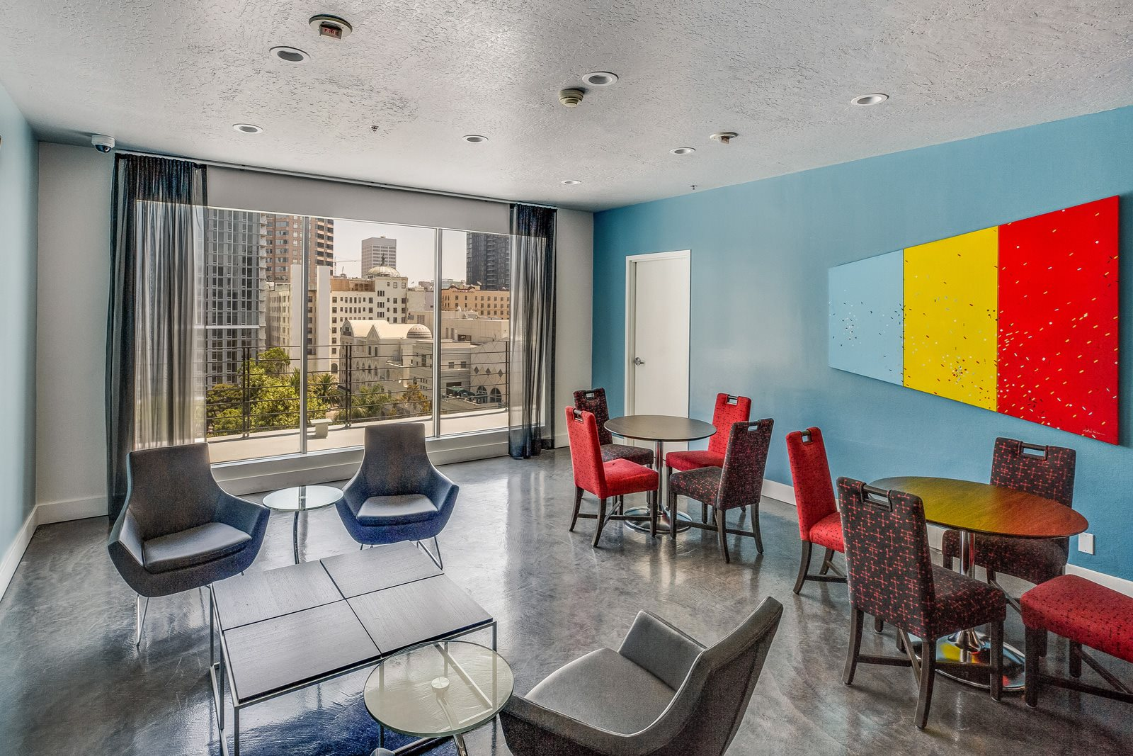 Sky Lounge with Views of Downtown LA at Renaissance Tower, 90015, CA