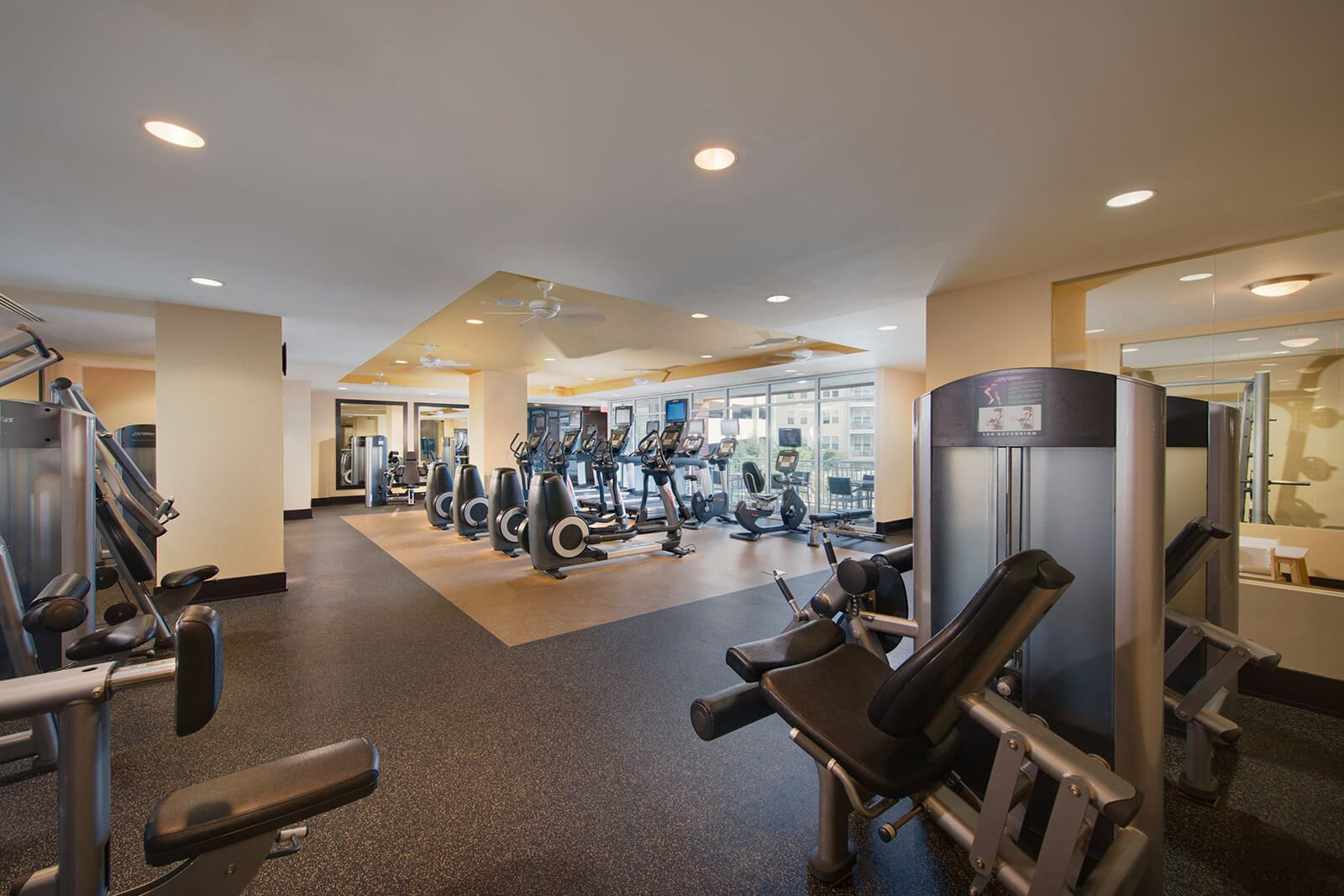 Fully-Equipped Fitness Center at The Ridgewood by Windsor, 4211 Ridge Top Road, VA