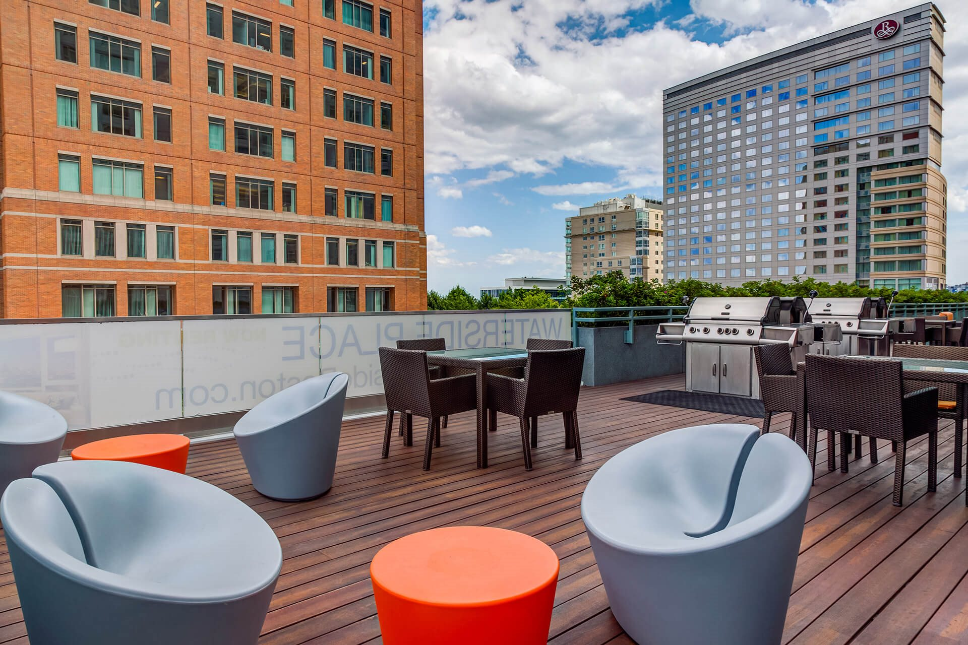 Rooftop Sundecks with Gorgeous Views  at Waterside Place by Windsor, Boston, Massachusetts