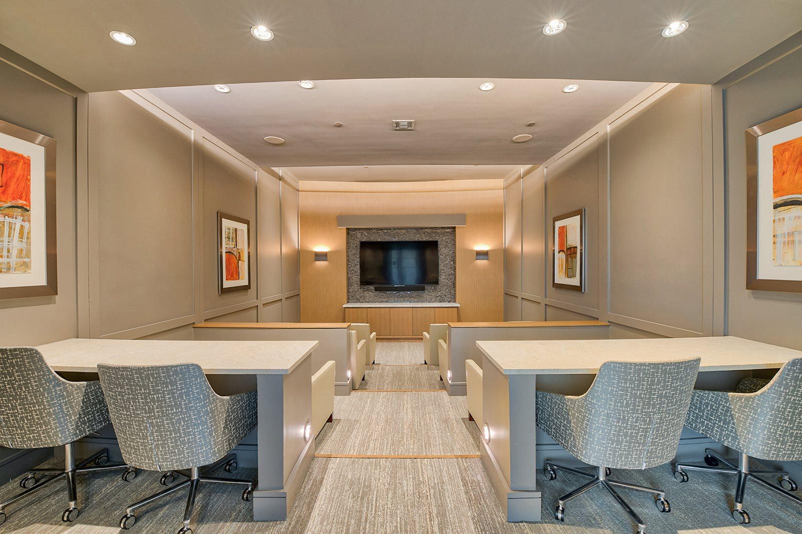 Private screening room at Windsor Lantana Hills, Austin, 78735