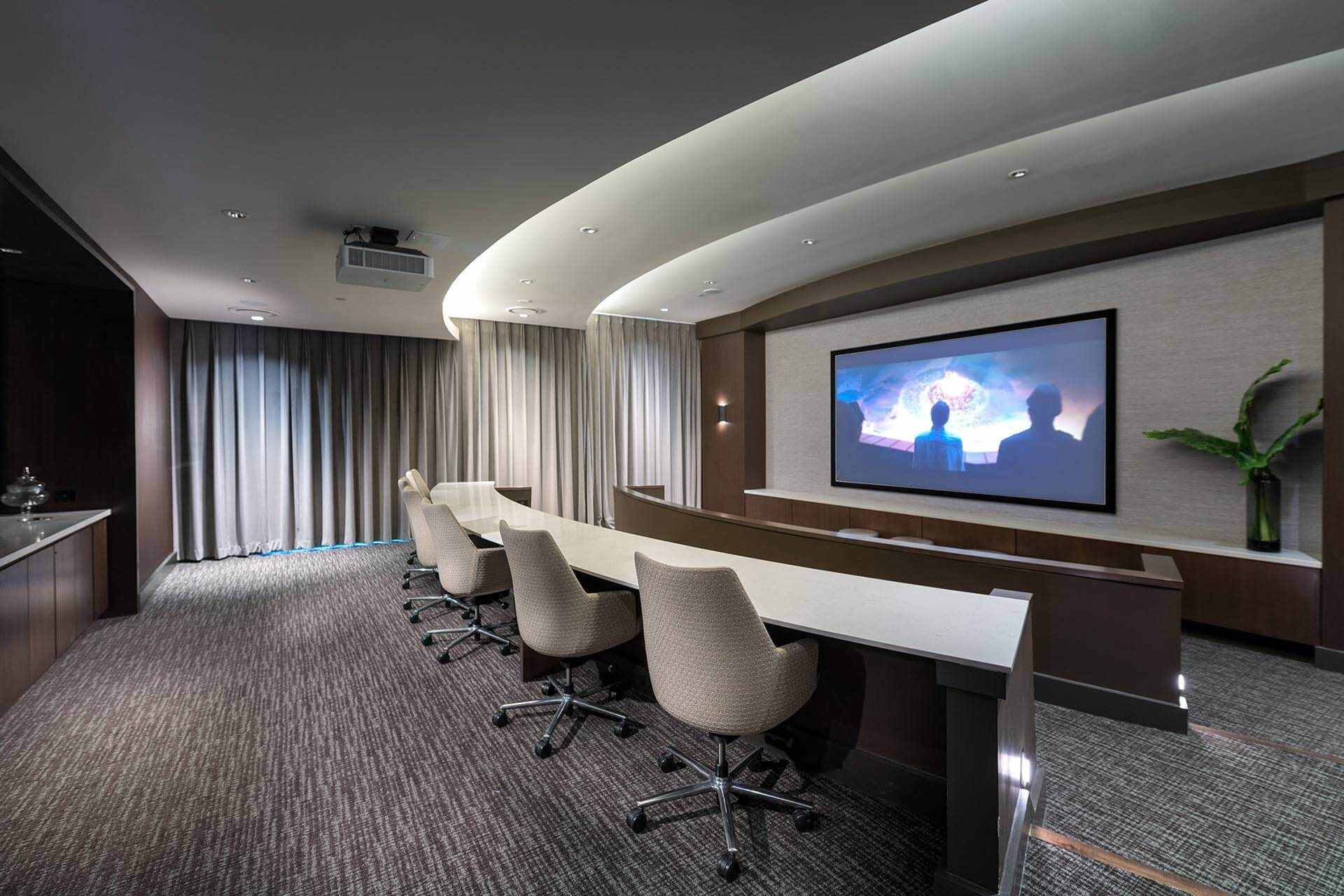 Media Room with Surround Sound at Windsor Oak Hill, Austin, Texas