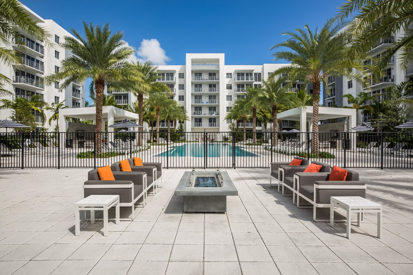 Outdoor Lounge at Allure by Windsor, Boca Raton, Florida