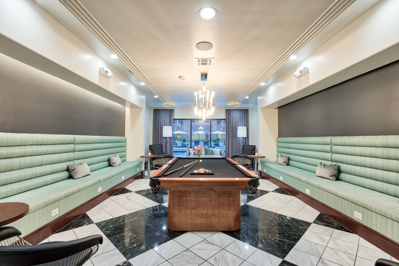 Billiards Room at Midtown Houston by Windsor, 2310 Main Street, Houston