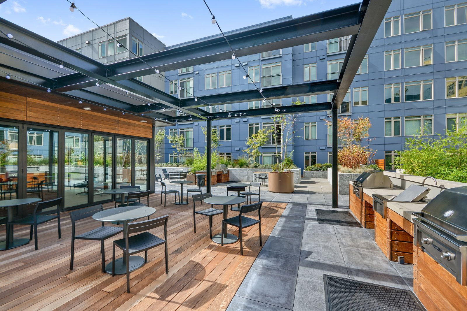 Picnic and BBQ Area at The Whittaker, 4755 Fauntleroy Way, Seattle