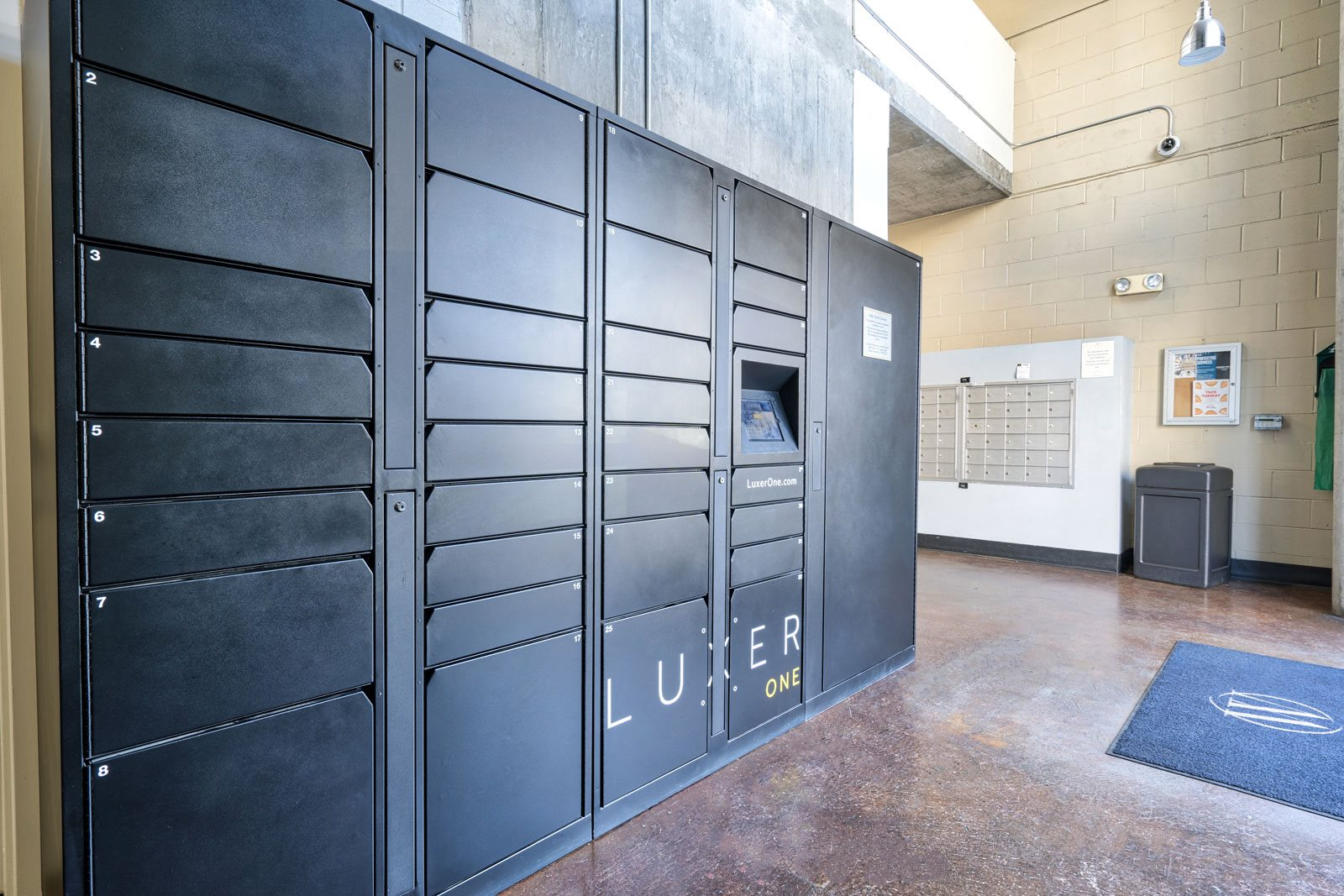 Luxer One 24/7 package system at Allegro at Jack London Square, 240 3rd Street, CA