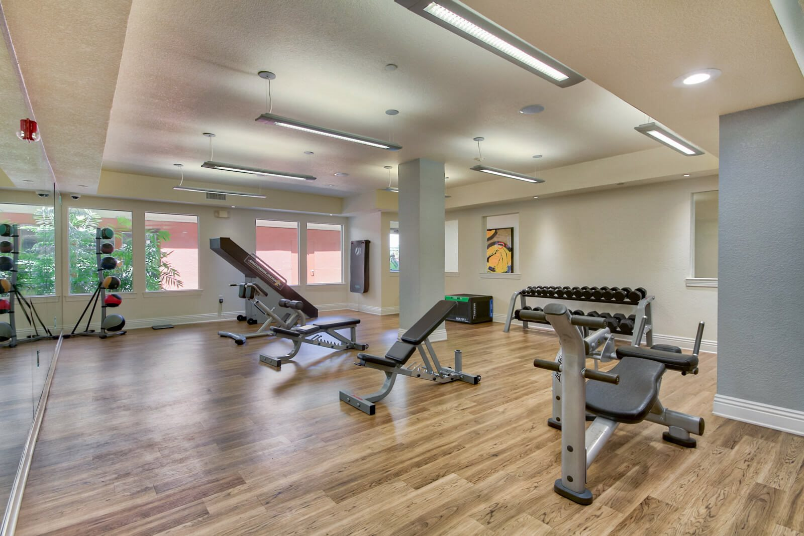 Fully-Equipped Fitness Center at Windsor at Main Place, 1235 West Town and Country Road, CA