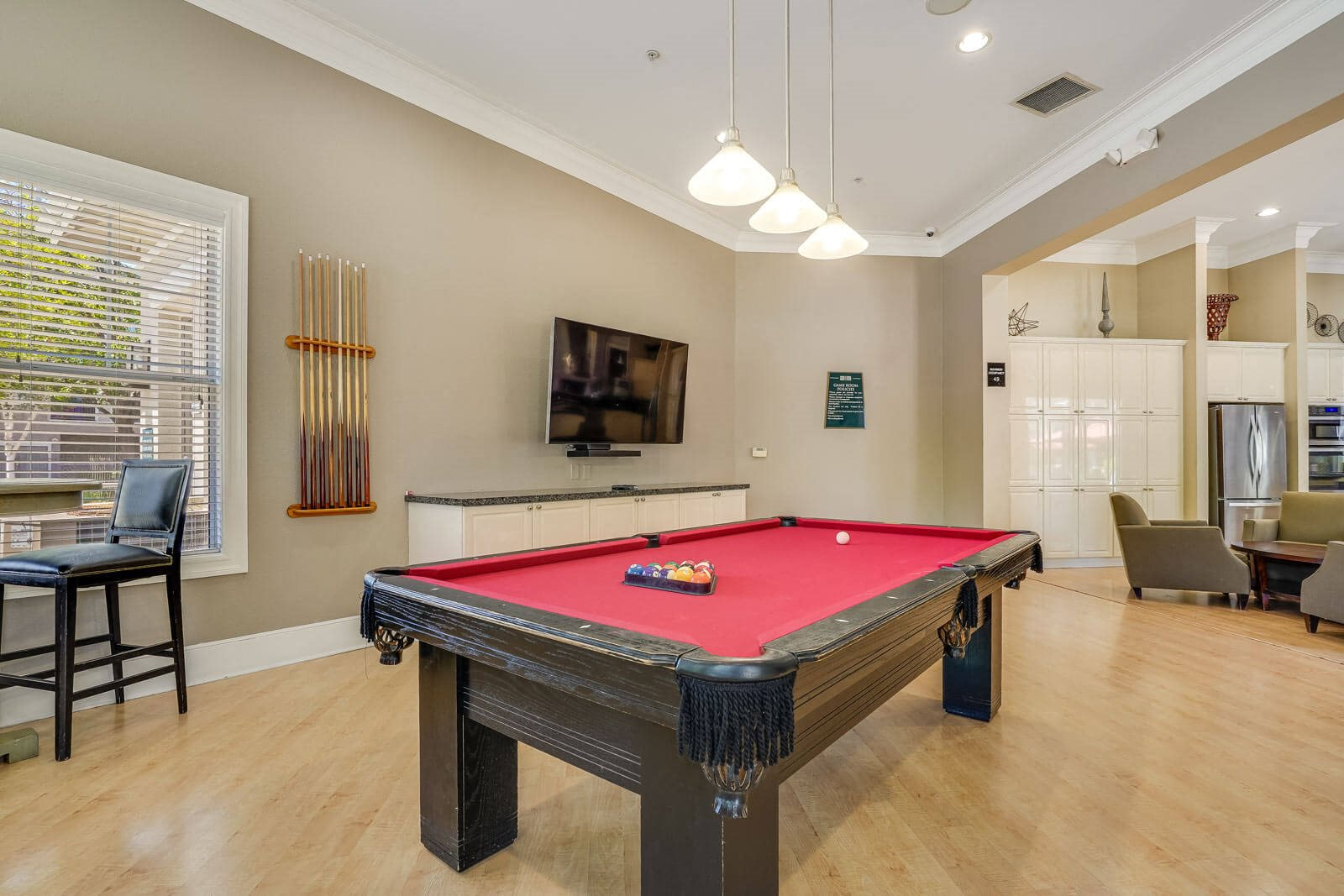 Billiards Table in Clubhouse at The Estates at Park Place, Fremont, California