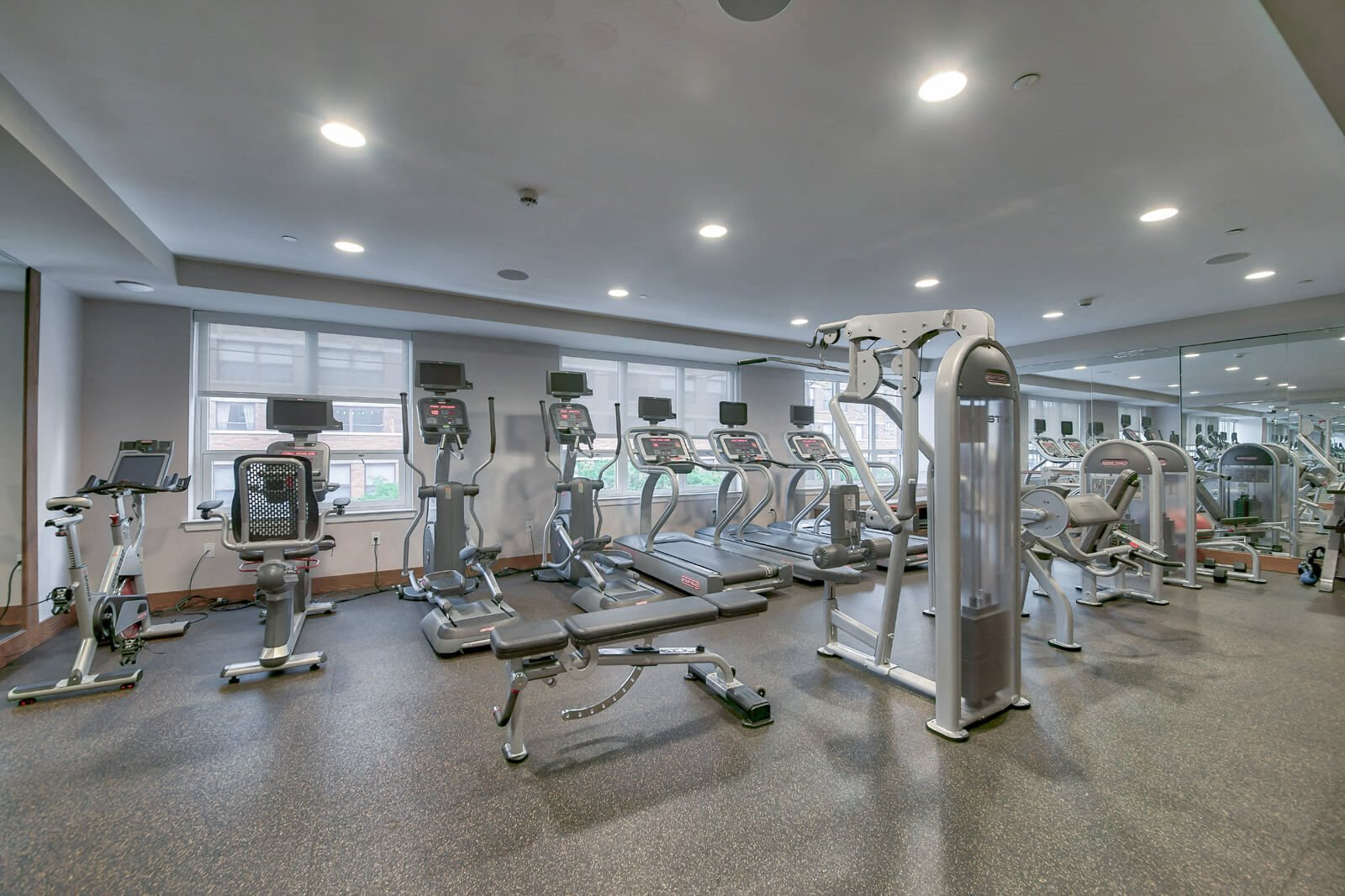 State-Of-The-Art Fitness Center at Warren at York by Windsor, Jersey City, NJ