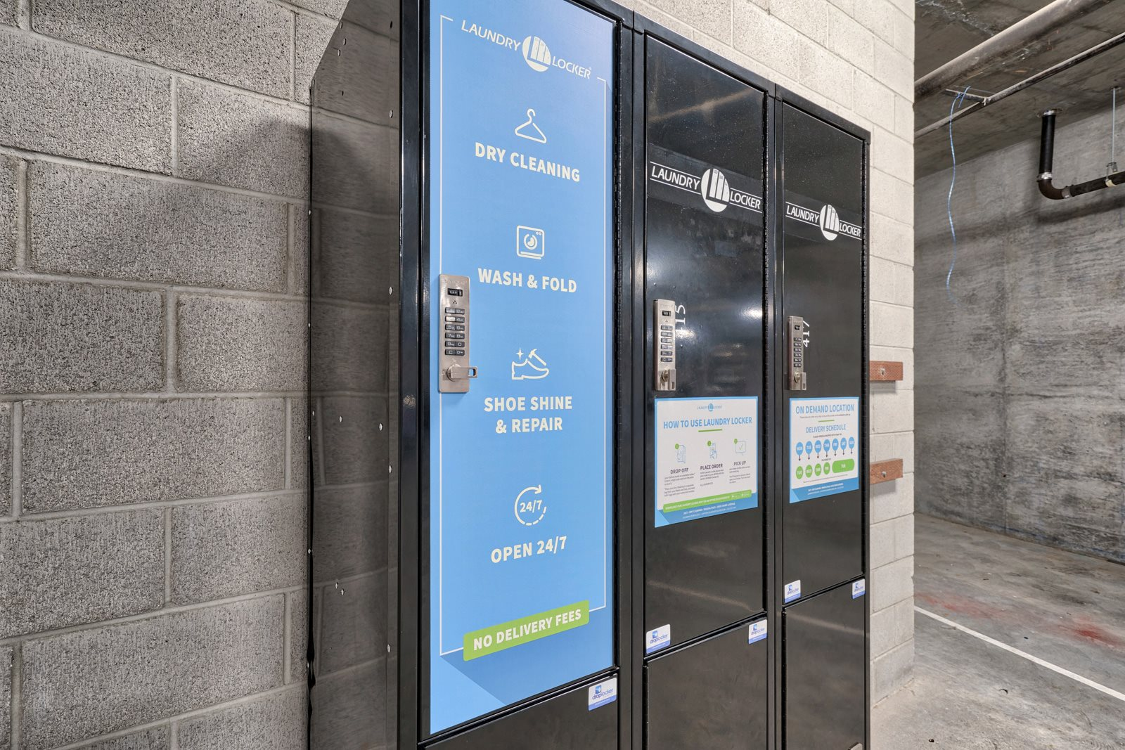 Dry Cleaning and Laundry Locker at Mission Bay by Windsor, San Francisco, California