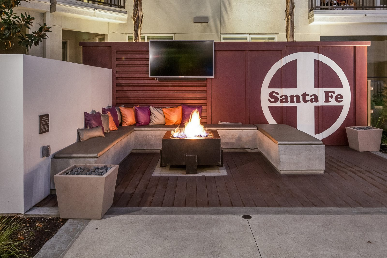 Relaxing, Outdoor Lounge Area with Fire Pit at Malden Station by Windsor, Fullerton, 92832
