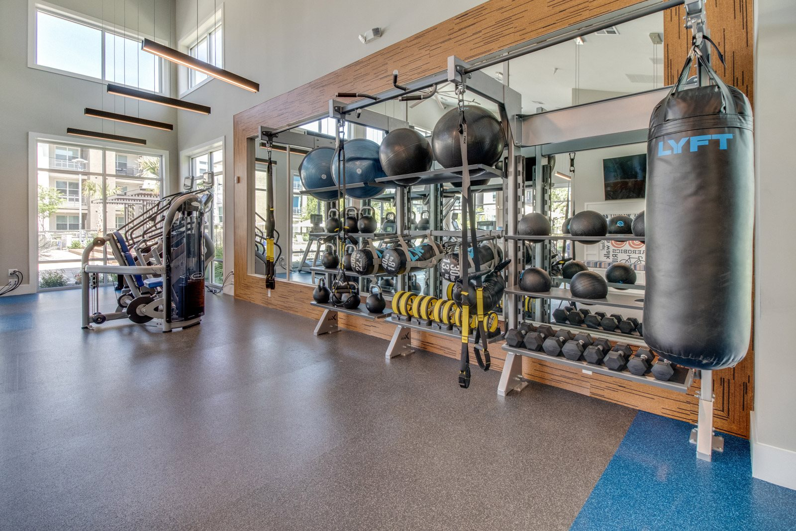 24-Hour Fitness Center with Free Weights and Cardio Equipment at Windsor Republic Place, Texas, 78727