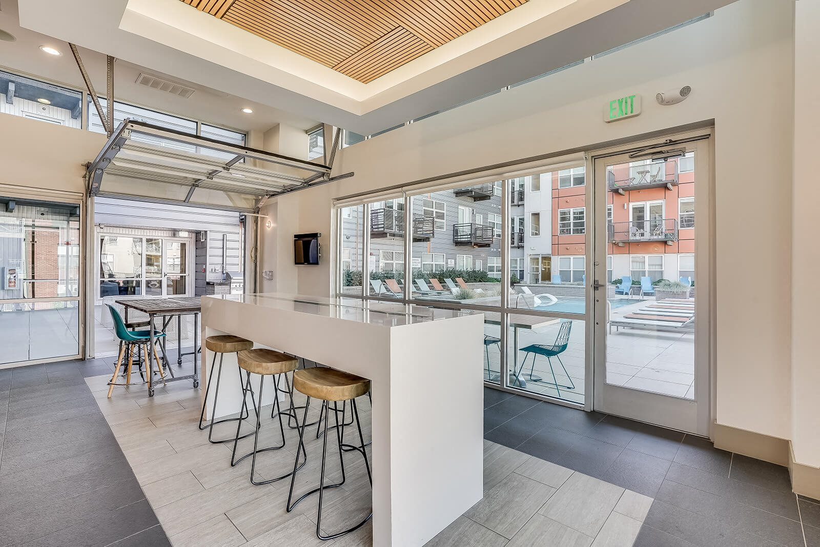 Indoor Community Space Opens Up to Outdoors at The Casey, Denver, Colorado
