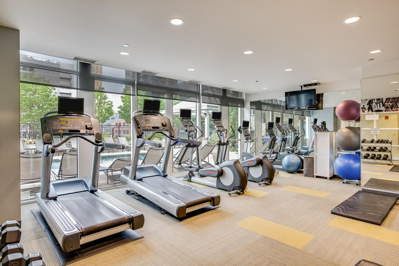 State-of-the-Art Fitness Center at Flair Tower, 222 W. Erie Street, IL