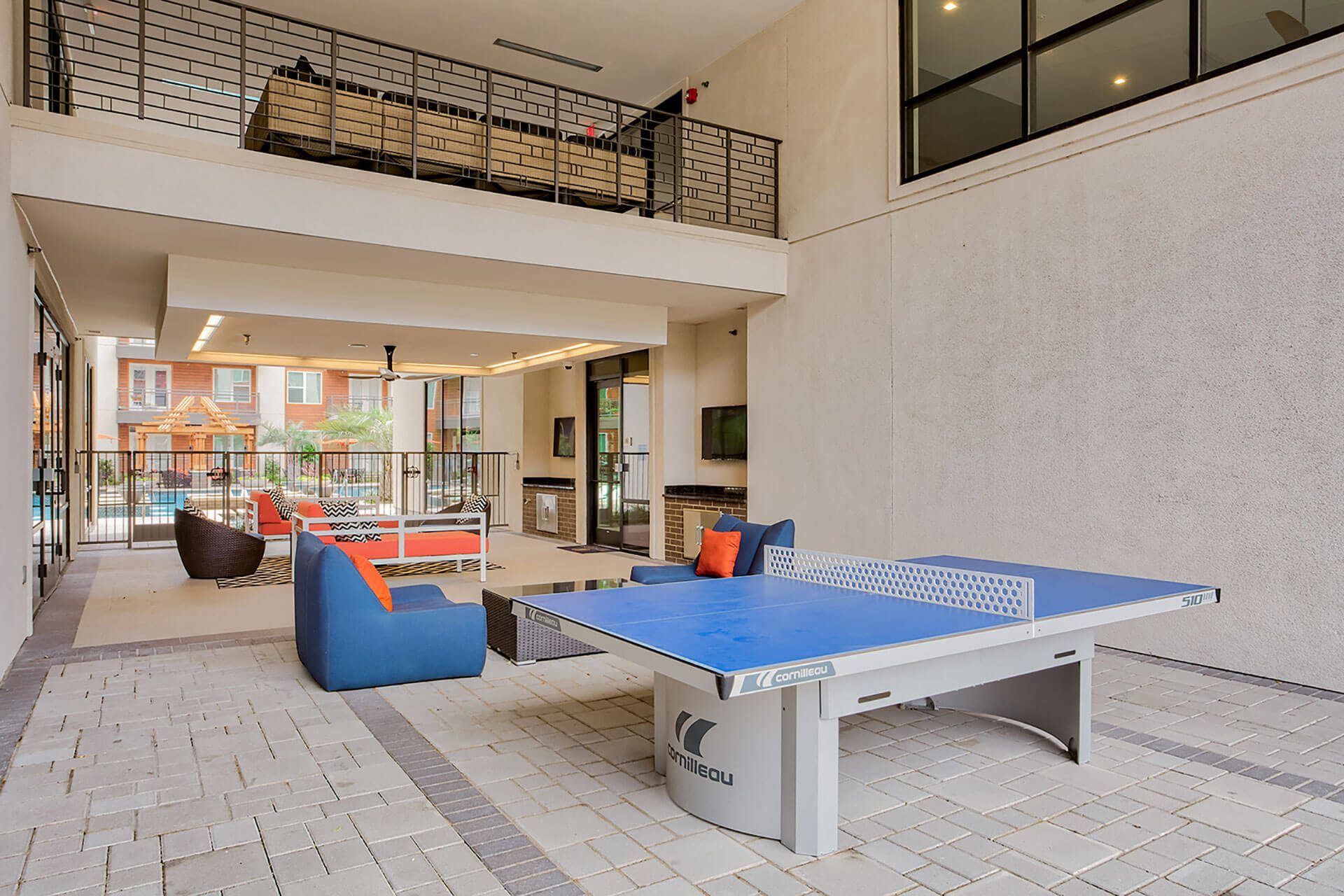 Play Pingpong In Our Relaxing Courtyard at Windsor by the Galleria, Dallas, TX
