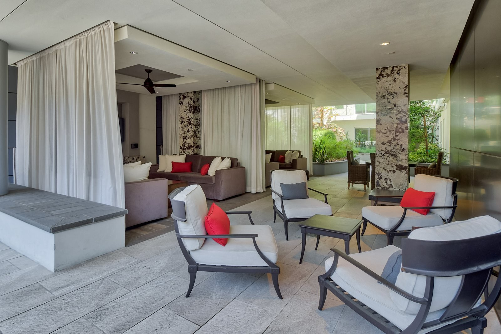 Outdoor, Open-Air Lounge Area at Olympic by Windsor, Los Angeles, 90015