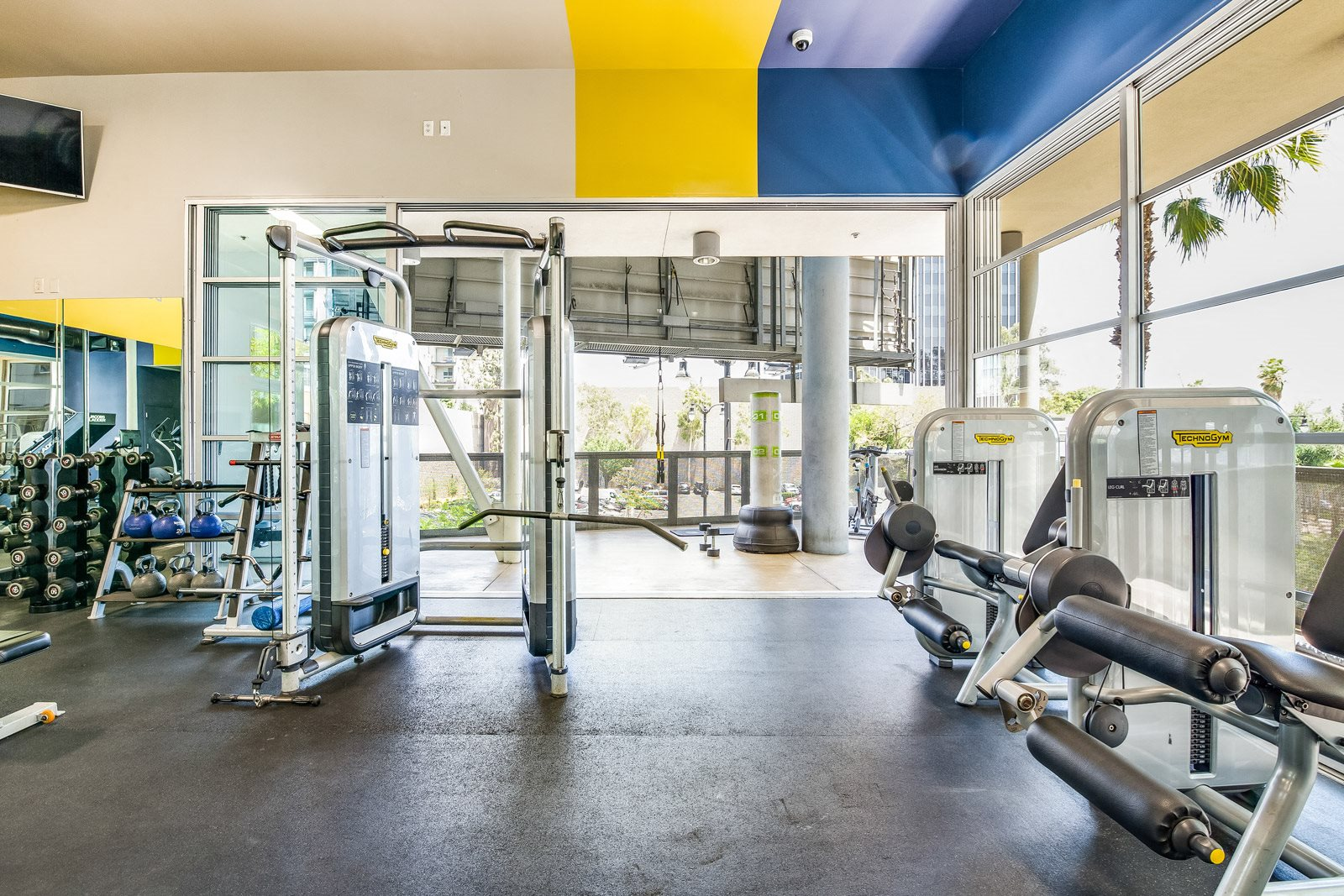 Plenty of Natural Light in Gym at Sunset and Vine, 1555 Vine Street, CA