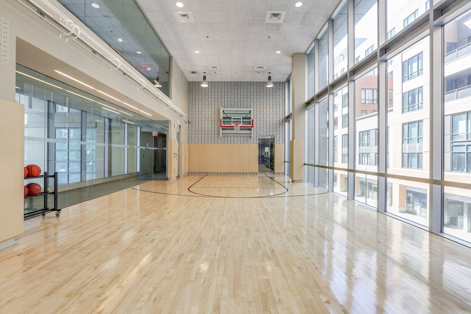 Sports Court for Basketball or Yoga Class at The Victor by Windsor, 110 Beverly St, Boston