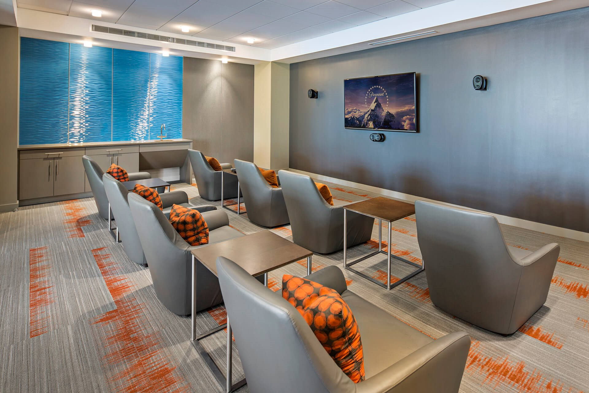 Expansive Media Lounge at Waterside Place by Windsor, Massachusetts, 02210