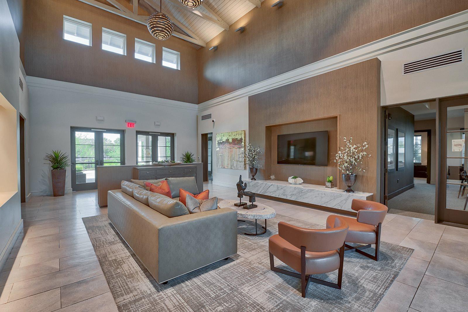 Community Lounge with HDTV at Windsor Lantana Hills 78735 TX