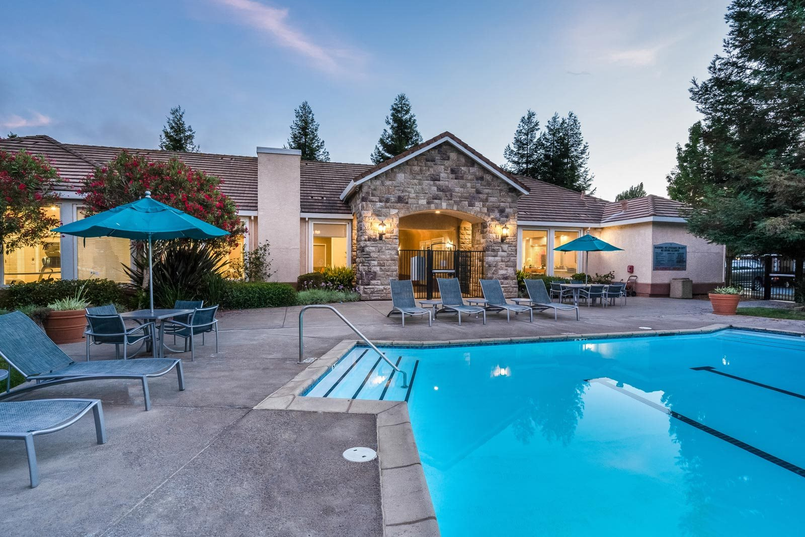 Swimming Pool with Surrounding Lounge Chairs at Windsor at Redwood Creek, Rohnert Park, CA