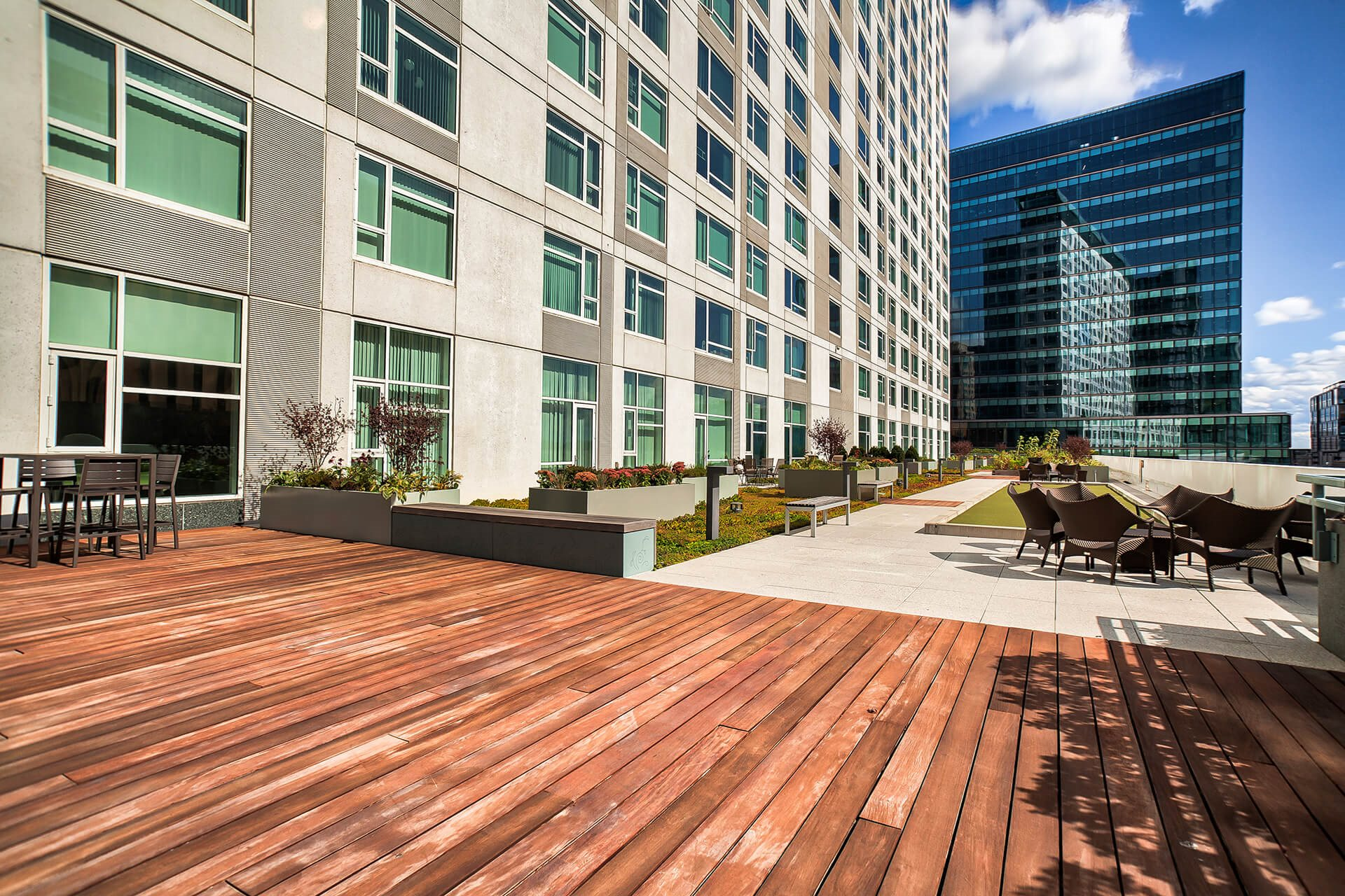 Bocce ball court at Waterside Place by Windsor, 02210, MA