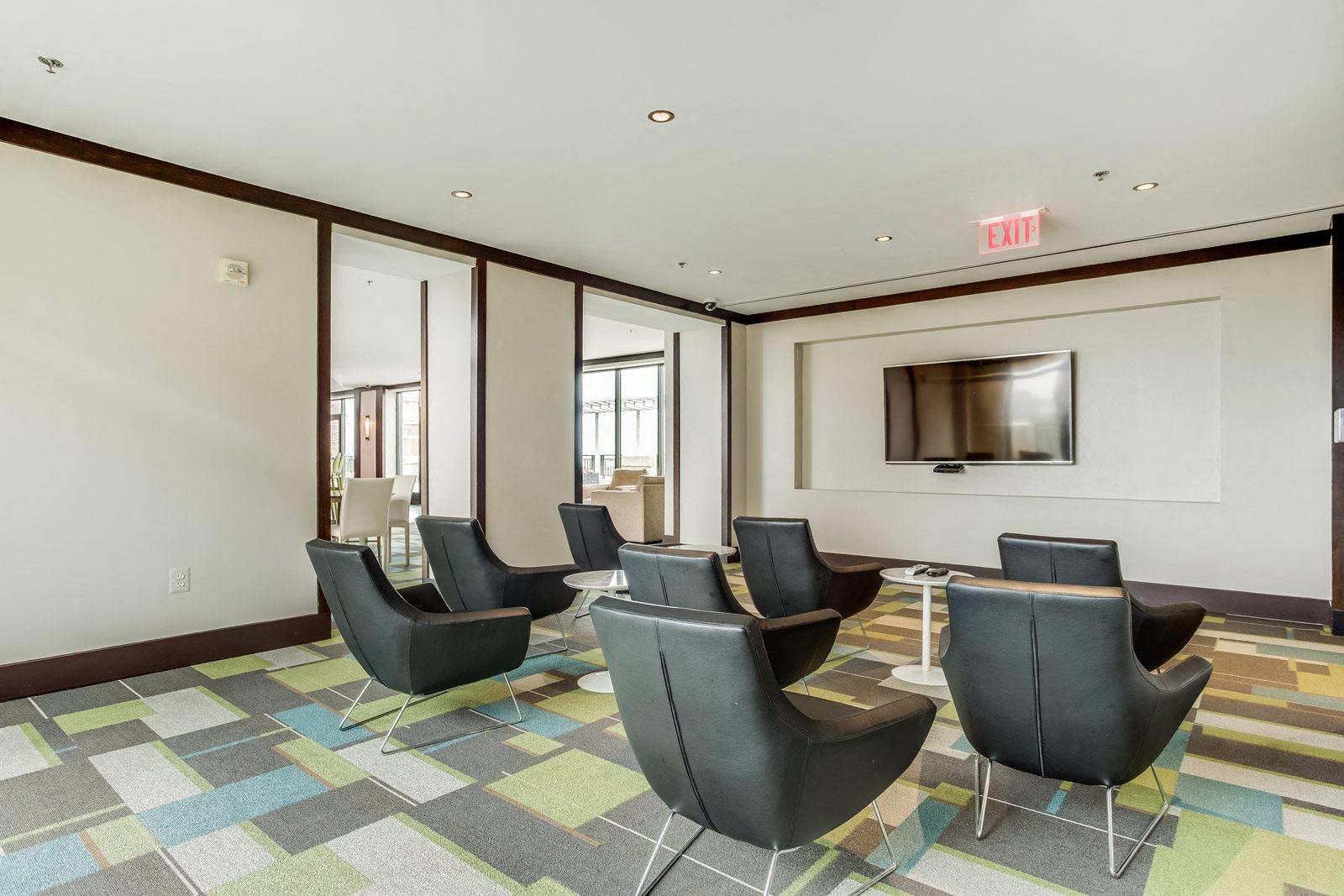 Media Room at Halstead Tower by Windsor, 4380 King Street, VA