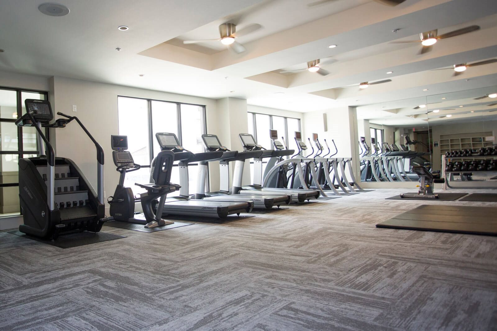 Cardio Equipment in Fitness Center at The Monterey by Windsor, Dallas, TX