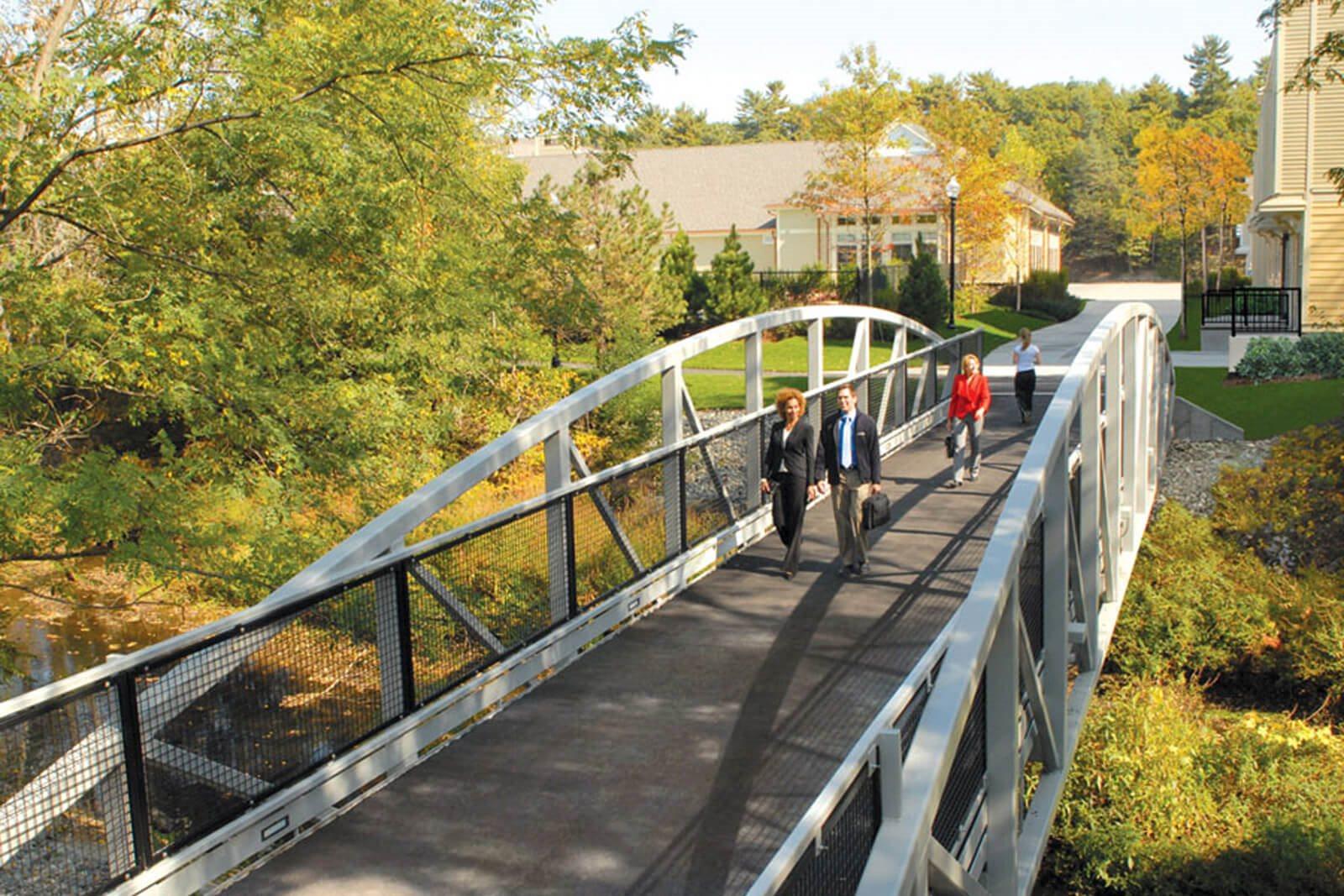 Pedestrian Bridge to Oak Grove T Stop near Windsor at Oak Grove, 12 Island Hill Ave., MA