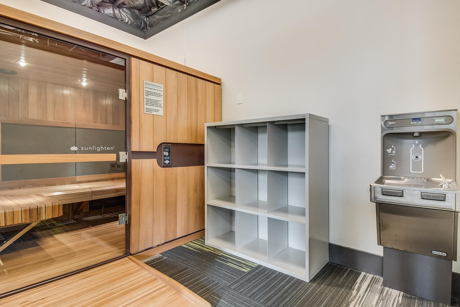 Sauna at Tera Apartments, 98033, WA