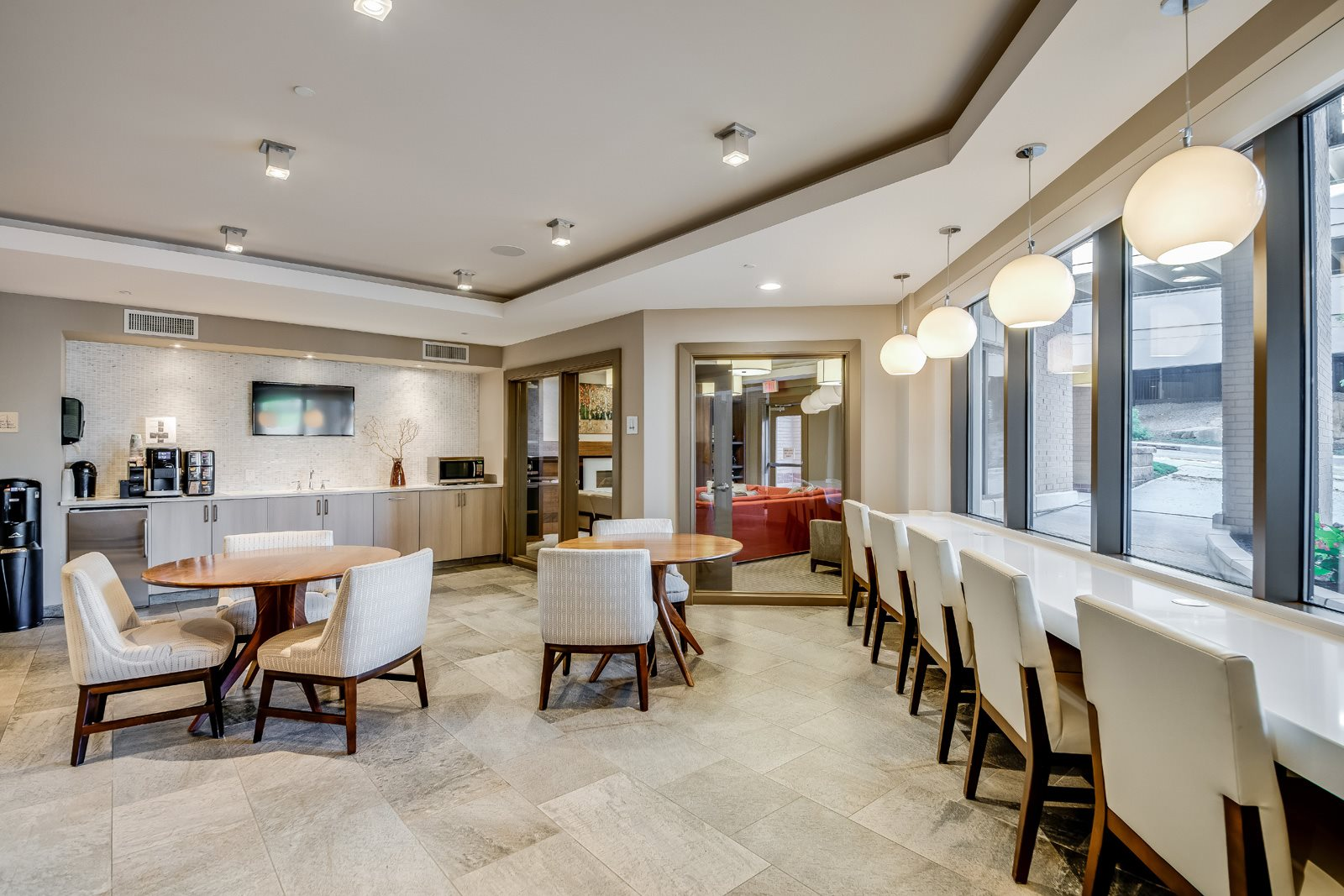 Coffee Bar and Hospitality Station at Twenty50 by Windsor, 2050 Central Road, NJ