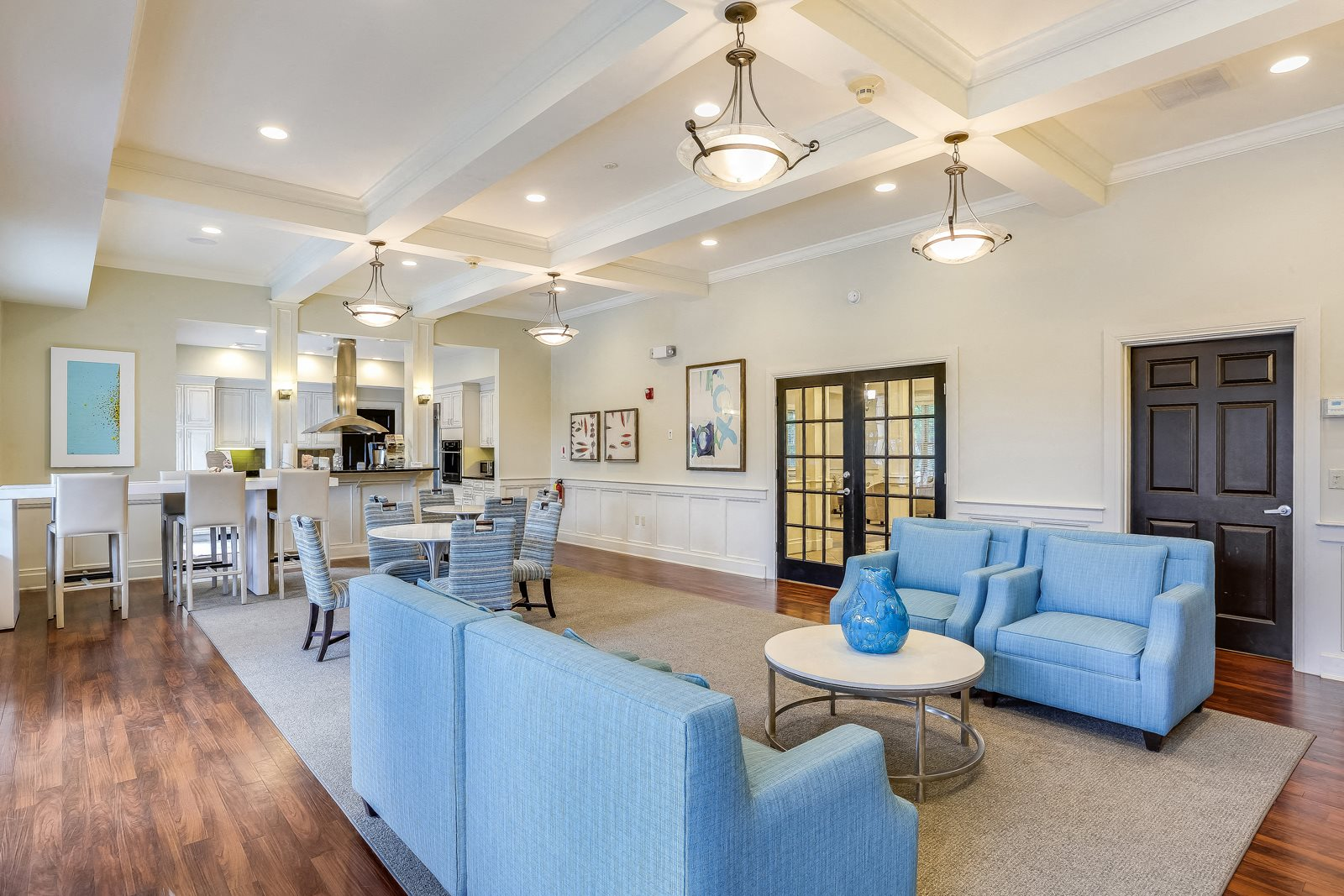 Resident Clubhouse with Upgraded Interiors at Windsor Ridge at Westborough, Westborough, Massachusetts