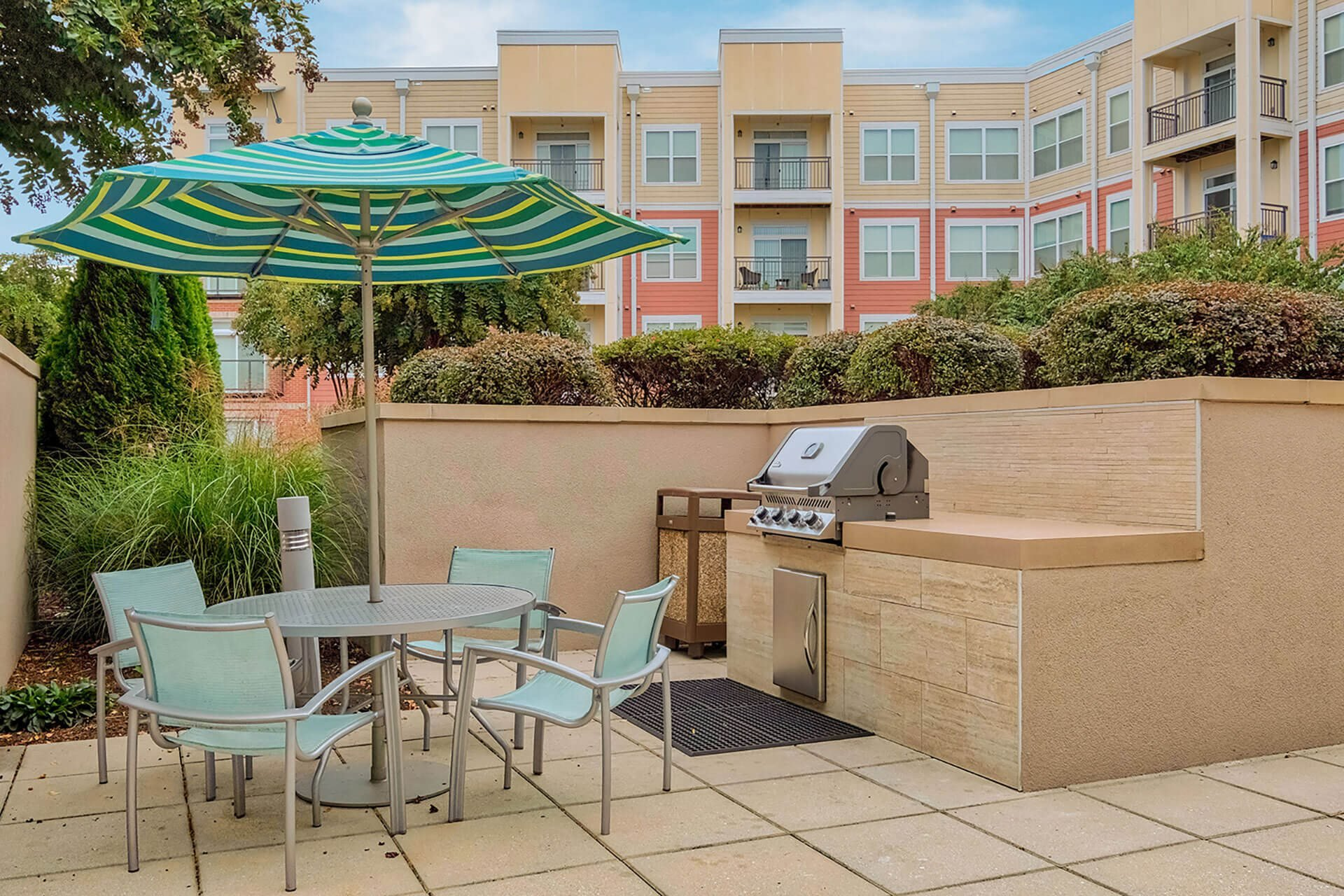 Outdoor grilling stations at The Ridgewood by Windsor, Fairfax, 22030