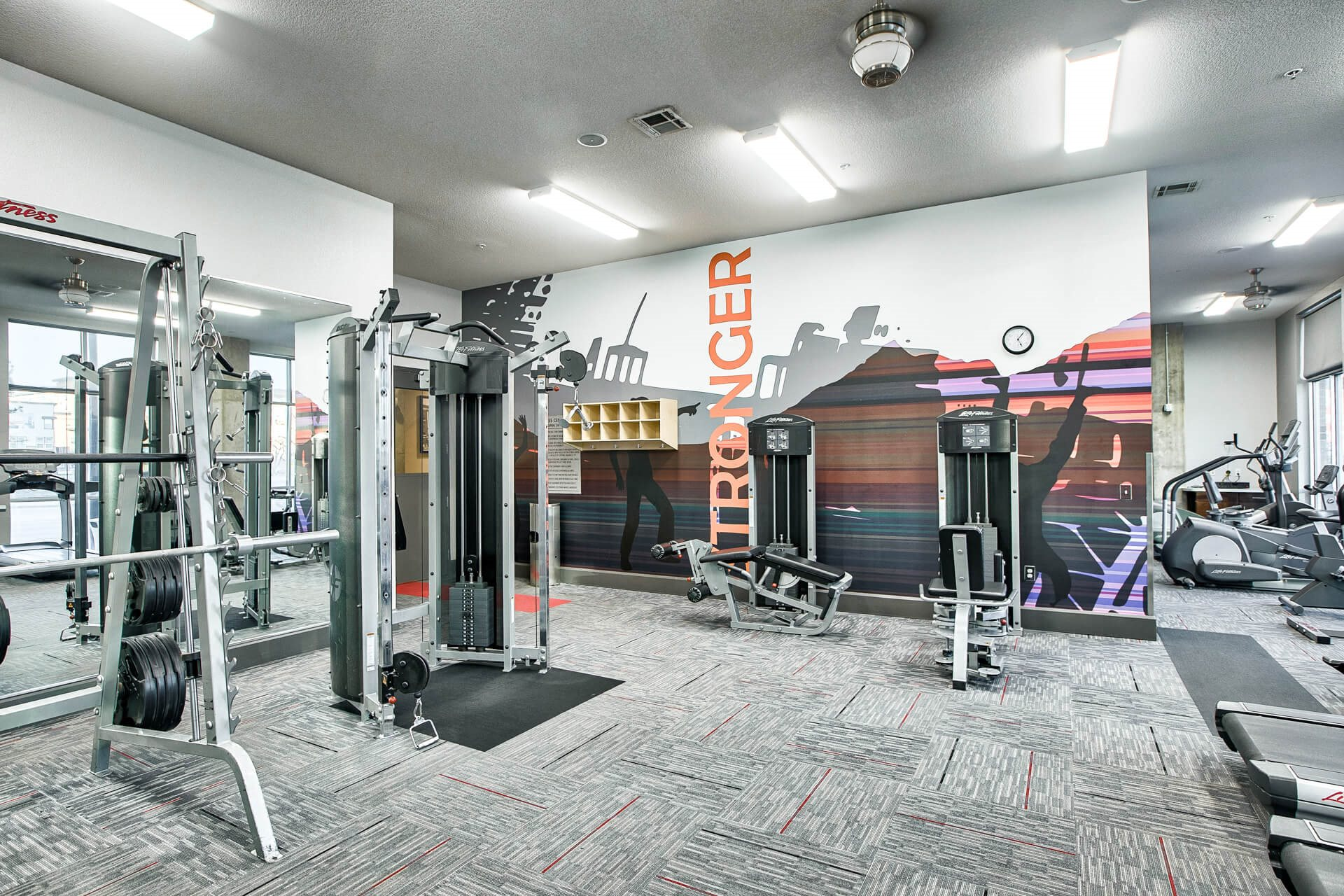 Strength Training Machines In Gym at Windsor at Broadway Station, Colorado, 80210