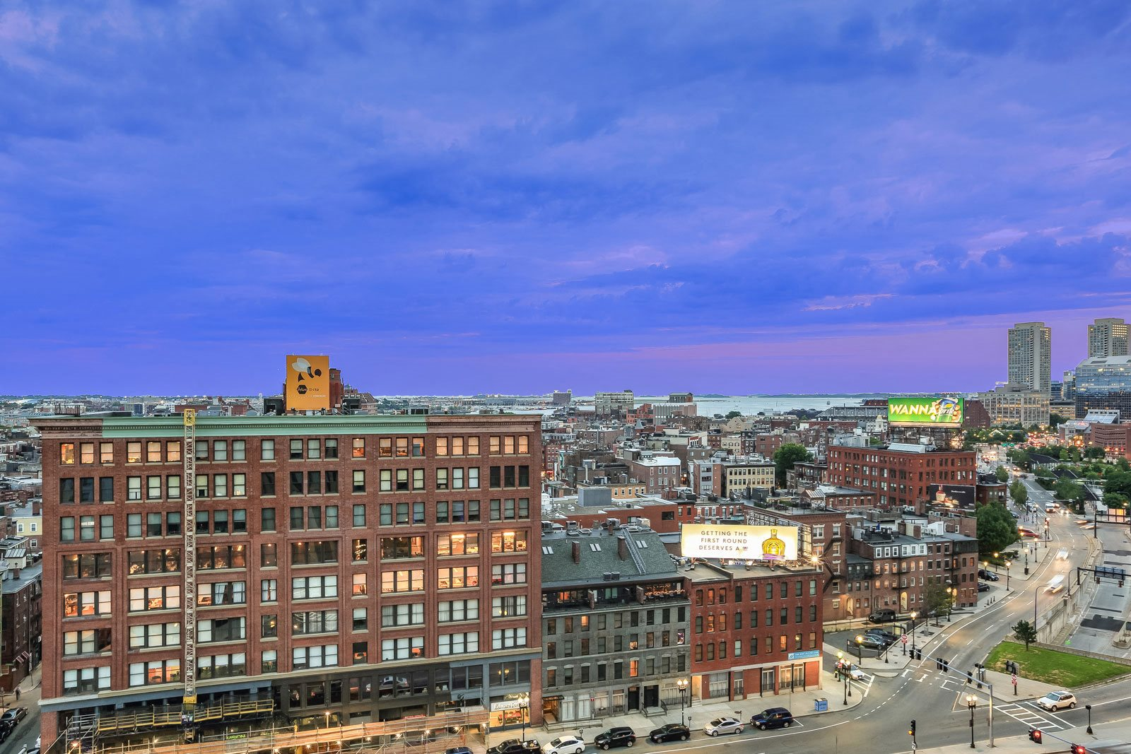 North End and Harbor Views from Sky Terrace at The Victor by Windsor, Boston, 02114