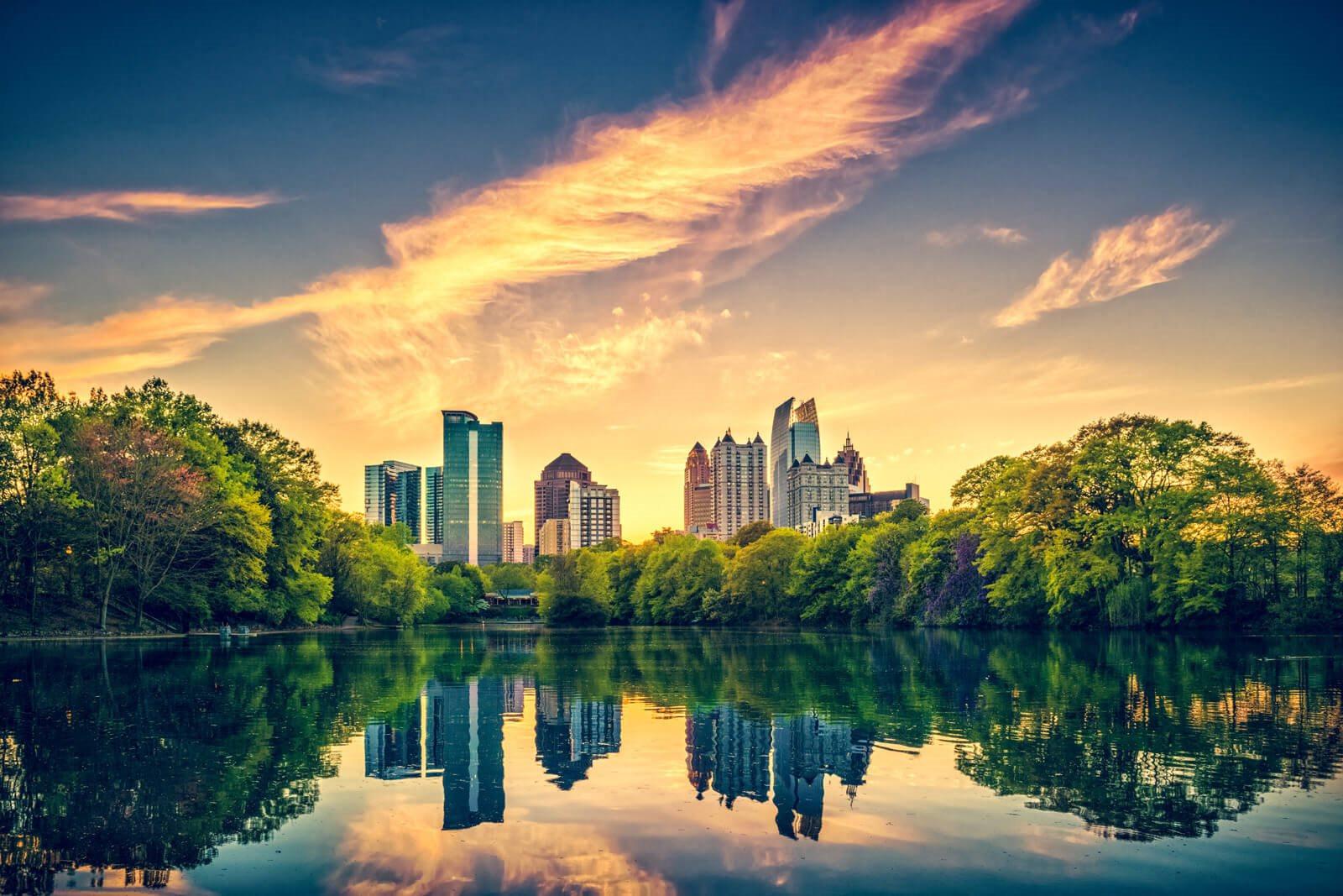 Atlanta Skyline from Piedmont Park near Windsor Old Fourth Ward, 608 Ralph McGill Blvd NE, Atlanta