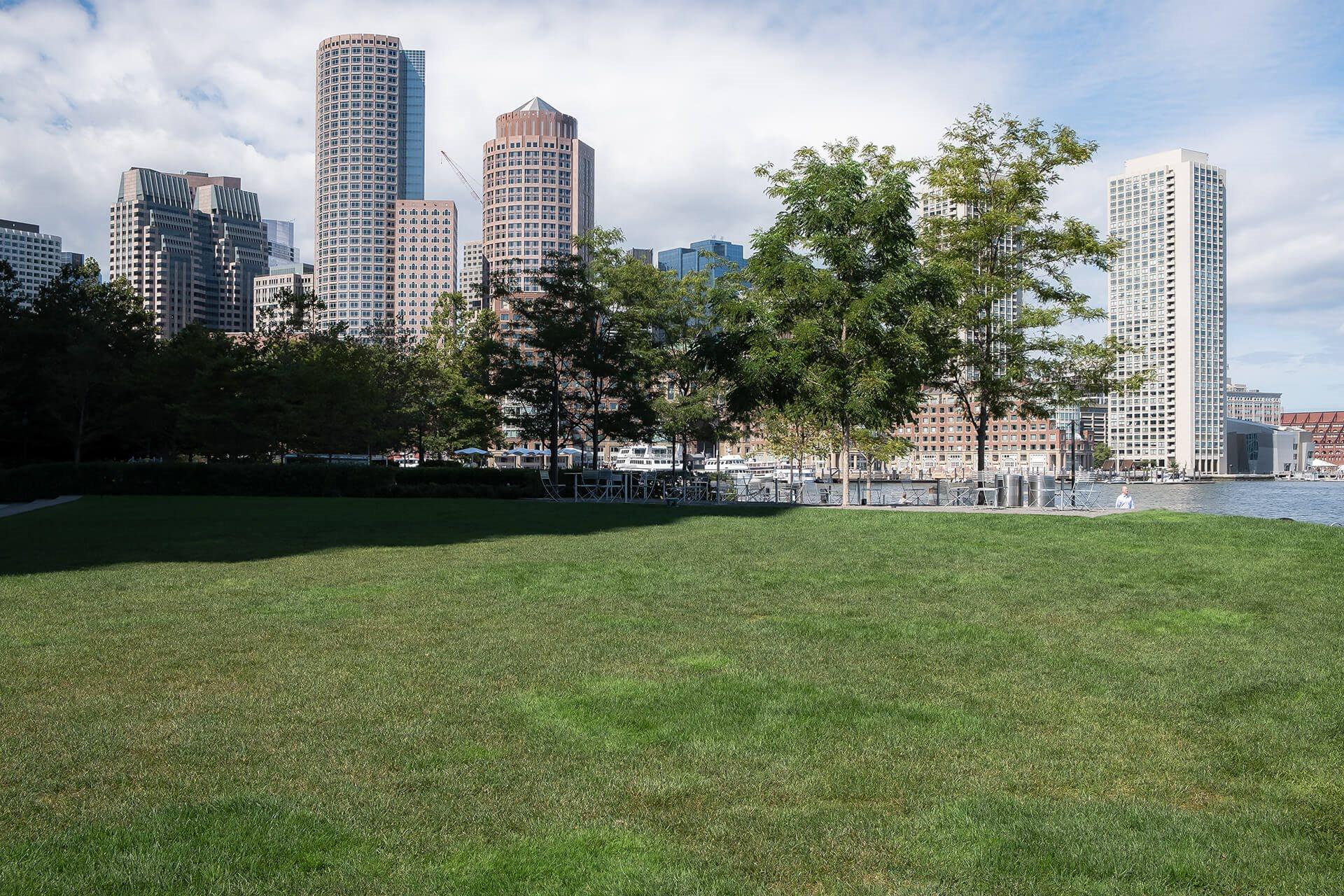 Fan Pier Park near Waterside Place by Windsor, Boston, MA