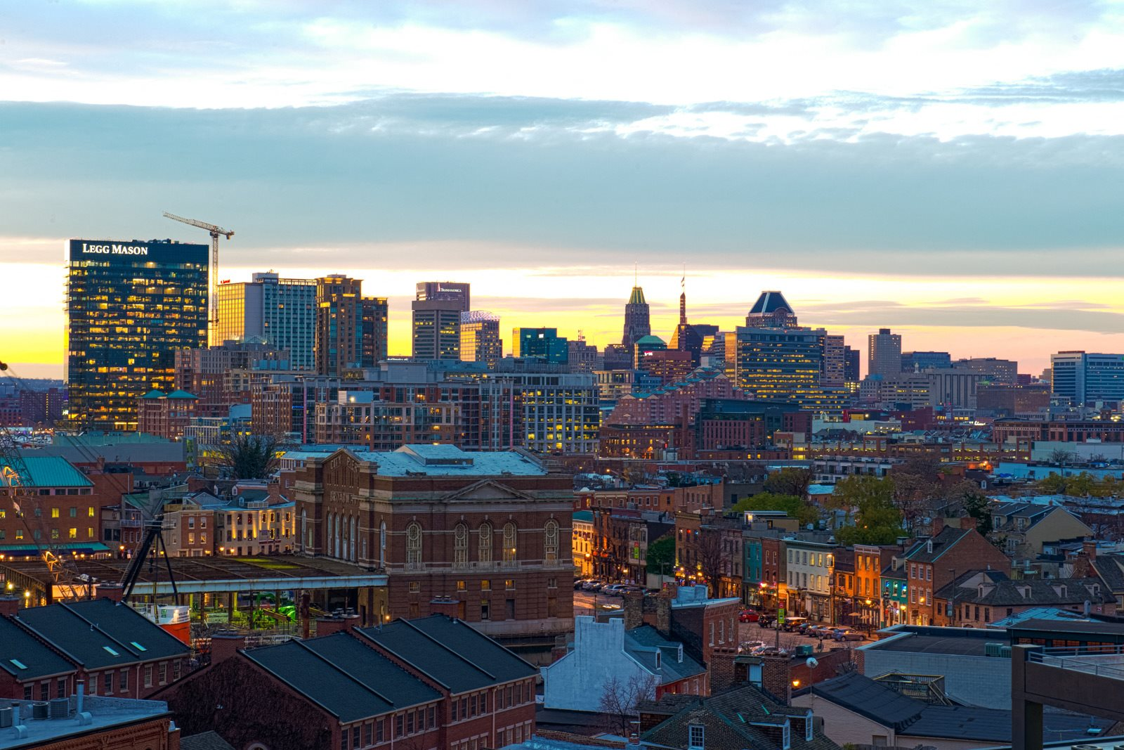 Views of Baltimore's Skyline at Crescent at Fells Point by Windsor, 951 Fell Street, Baltimore