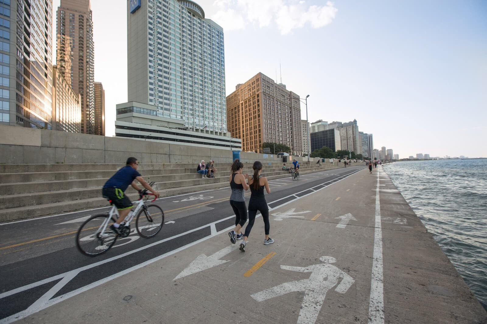 Chicago's Lakefront Trail near Flair Tower, Illinois, 60654