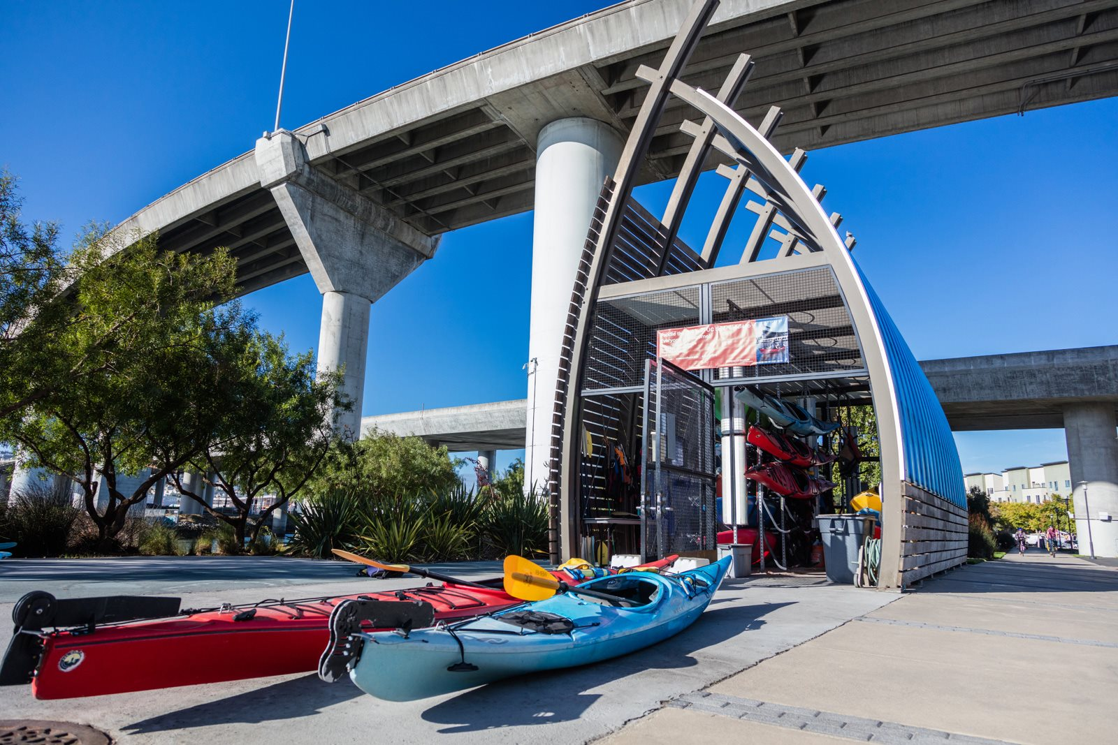 Kayaks Available Nearby at Mission Bay by Windsor, 360 Berry Street, CA