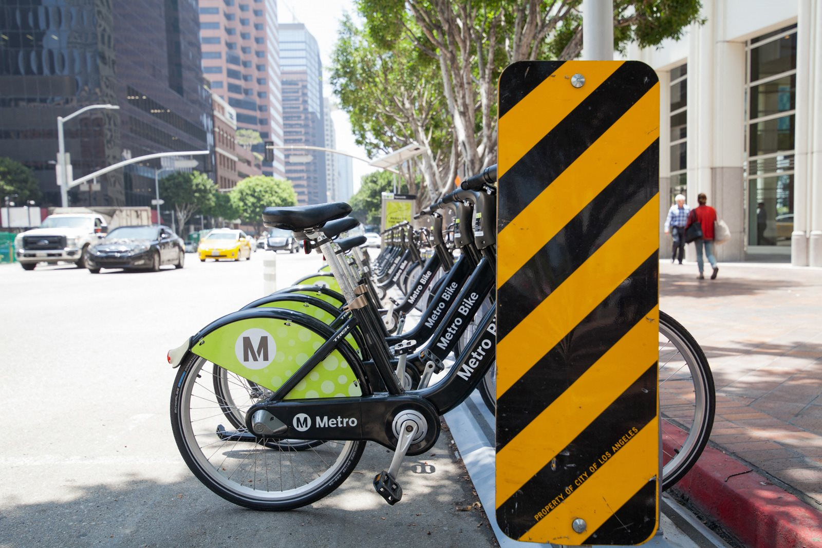 Metro Bike at Renaissance Tower, 501 W. Olympic Boulevard, Los Angeles