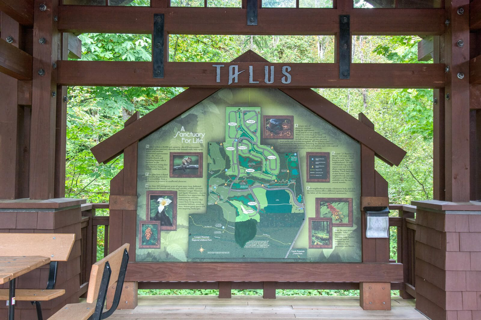 Talus is nearby at The Estates at Cougar Mountain, 2128 Shy Bear Way NW, WA