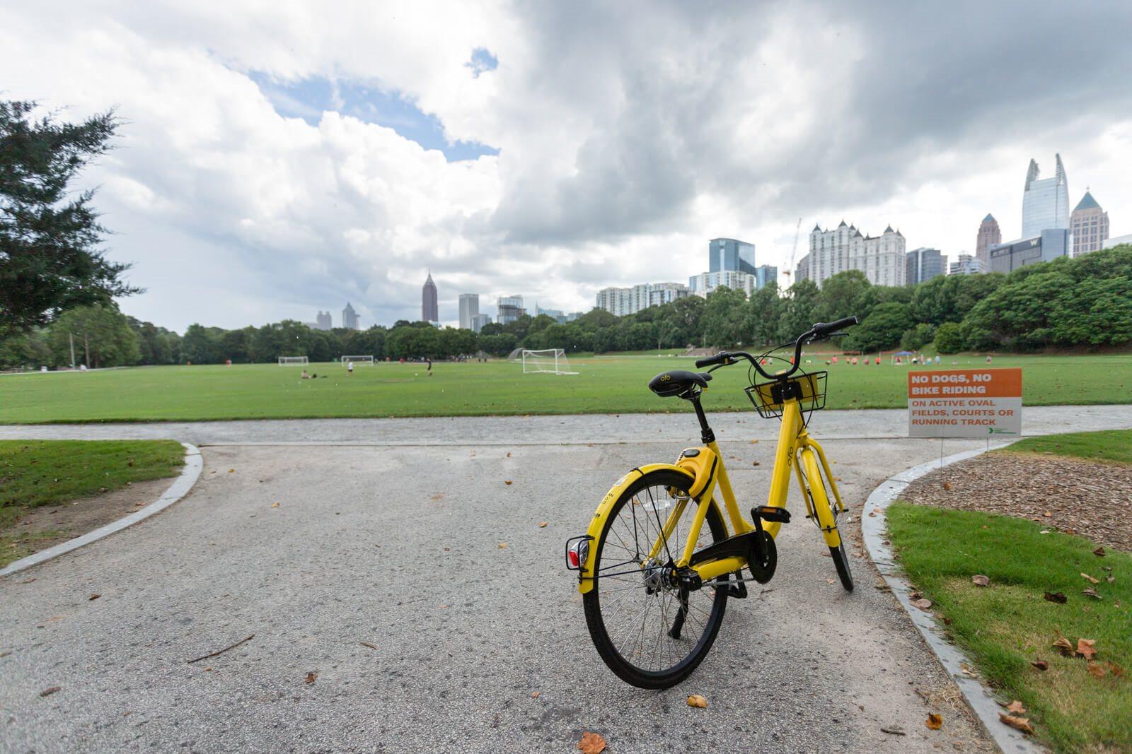Bike in Piedmont Park at Windsor at Midtown, 222 14th Street NE, Atlanta