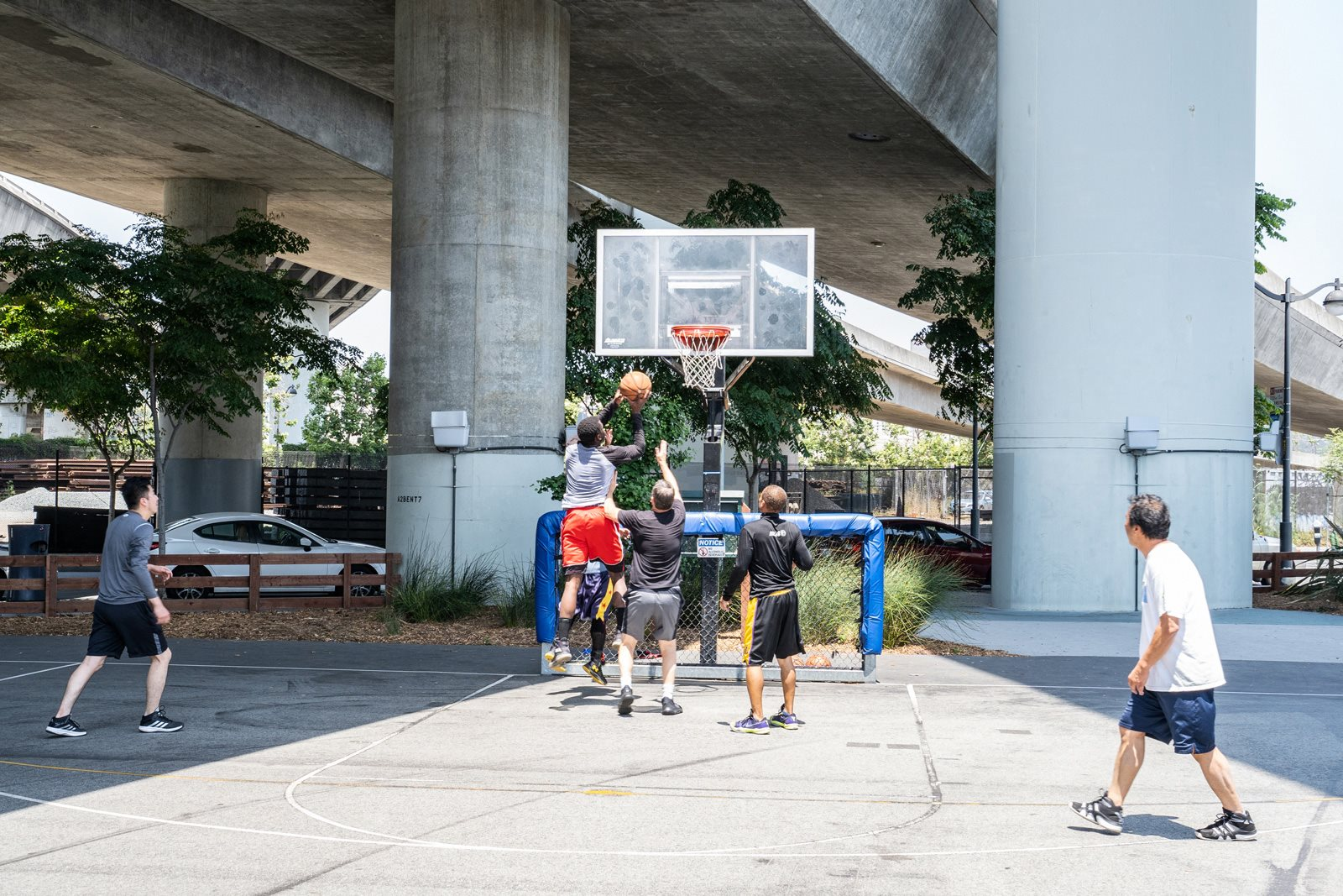 Basketball at Mission Creek Park near Mission Bay by Windsor, California, 94158