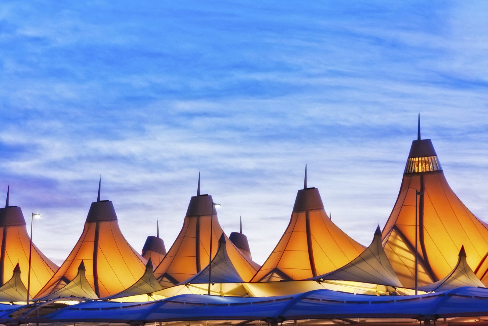 Denver International Airport close by from The District, CO