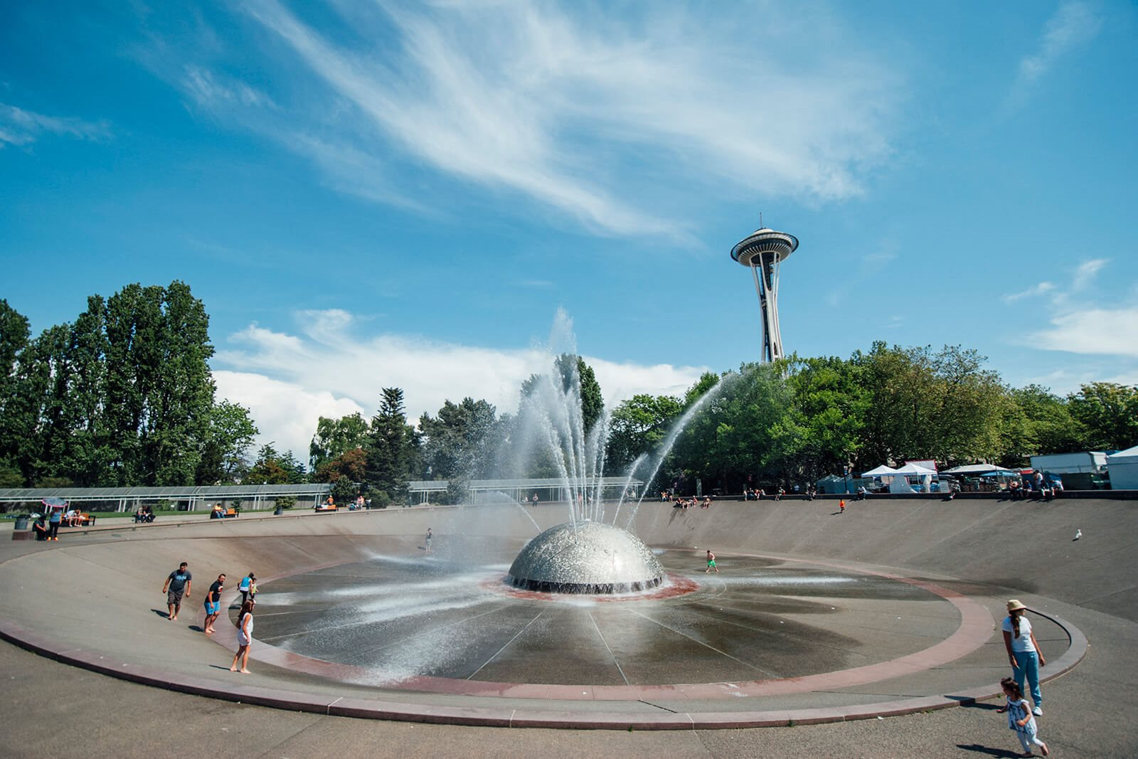 Seattle Center Fountain near Cirrus, 2030 8th Avenue, Seattle