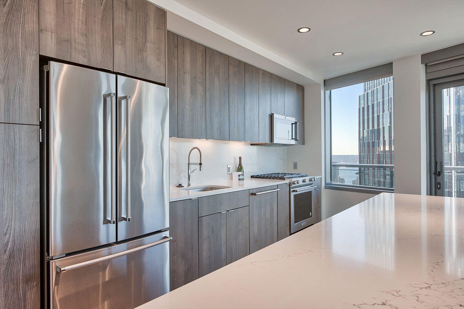 Stainless Steel Appliances in Kitchen at Stratus, Seattle, Washington