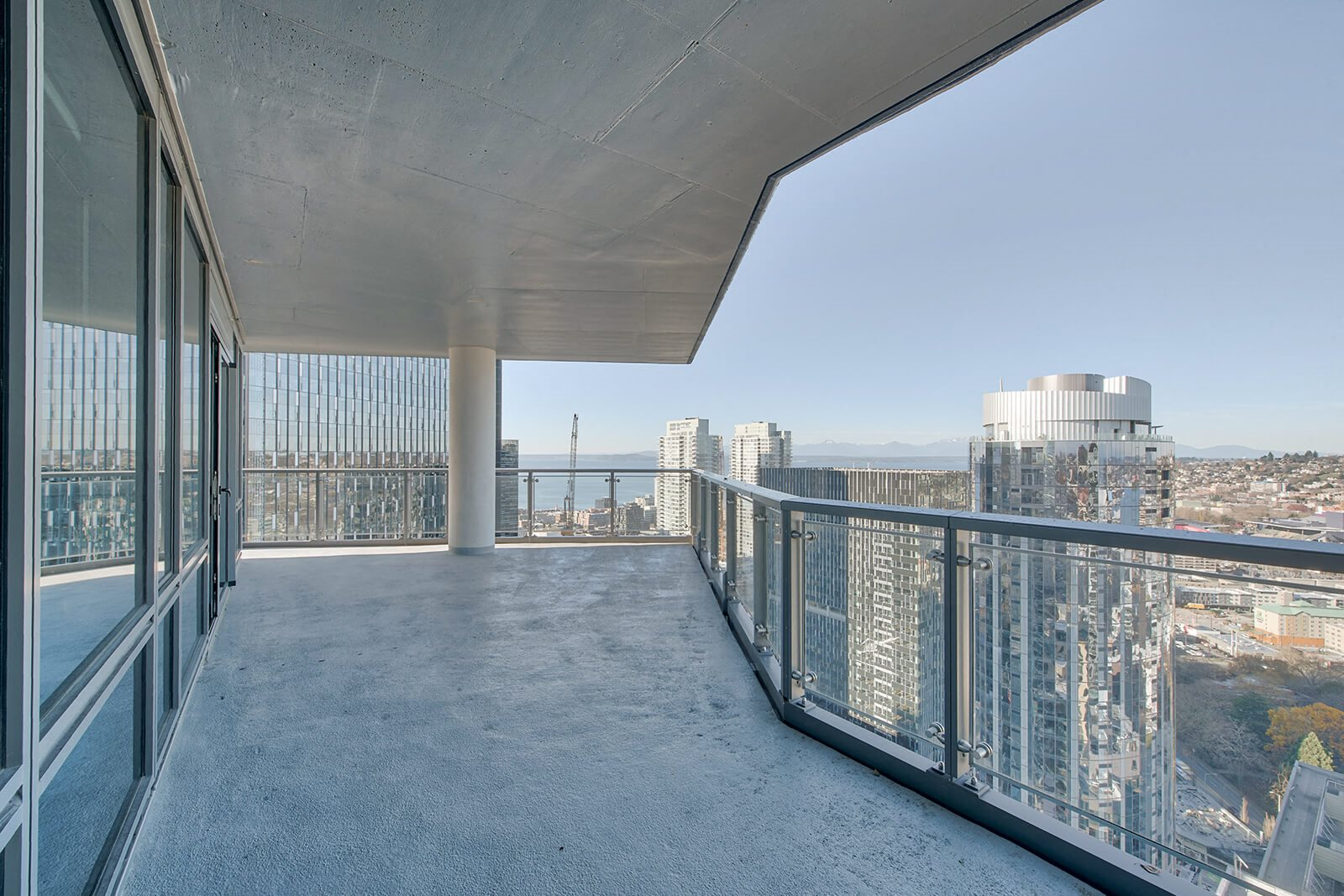 Large private balconies attached to penthouses at Stratus, Washington