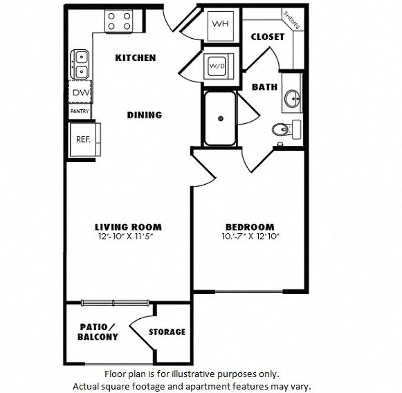 A1(2) floor plan at Windsor Burnet, 10301 Burnet Rd, 78758